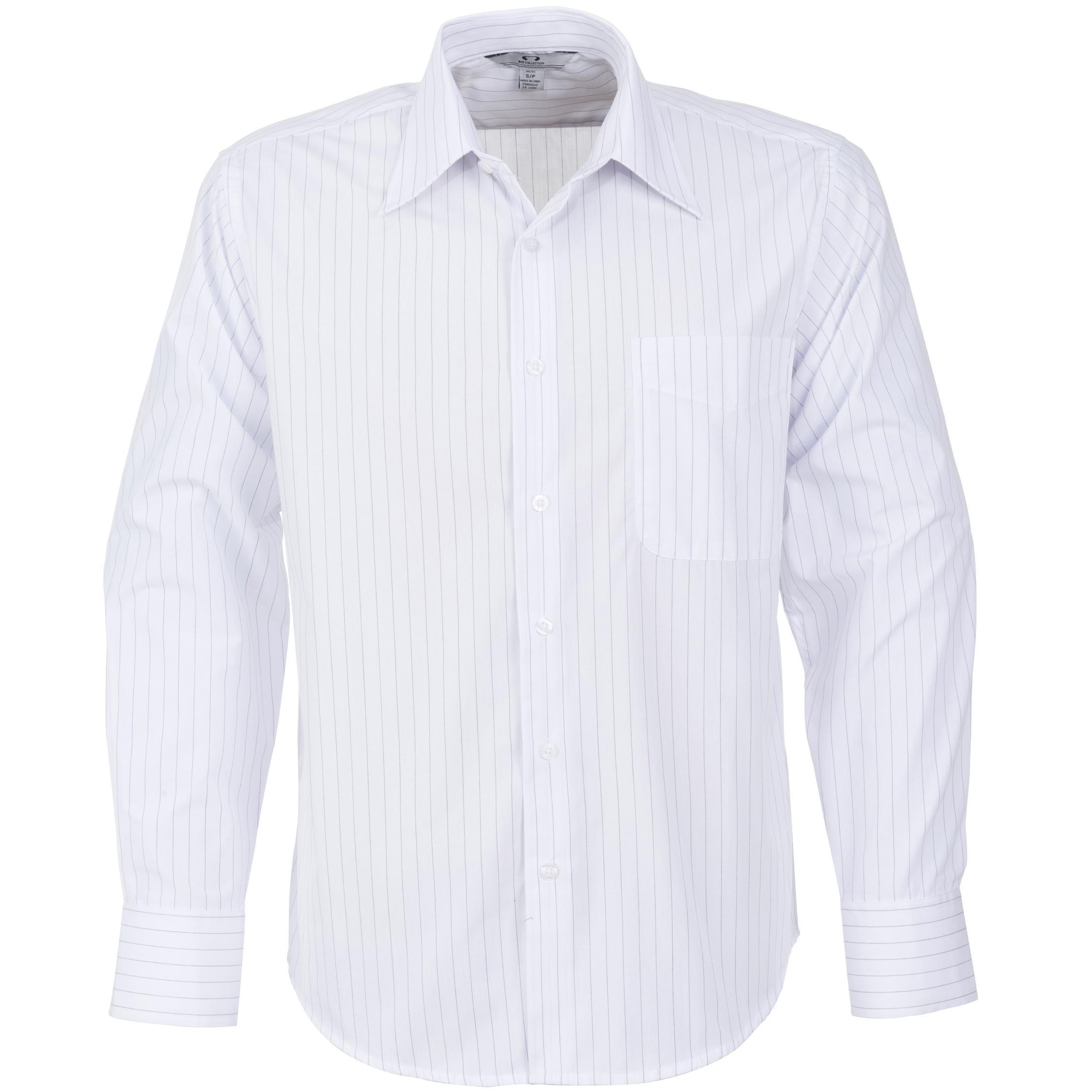 Mens Long Sleeve Manhattan Striped Shirt - Wbl Only