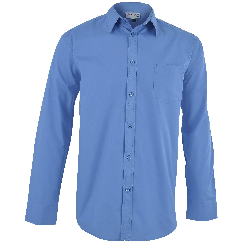 Mens Long Sleeve Haiden Shirt - Light Blue Only