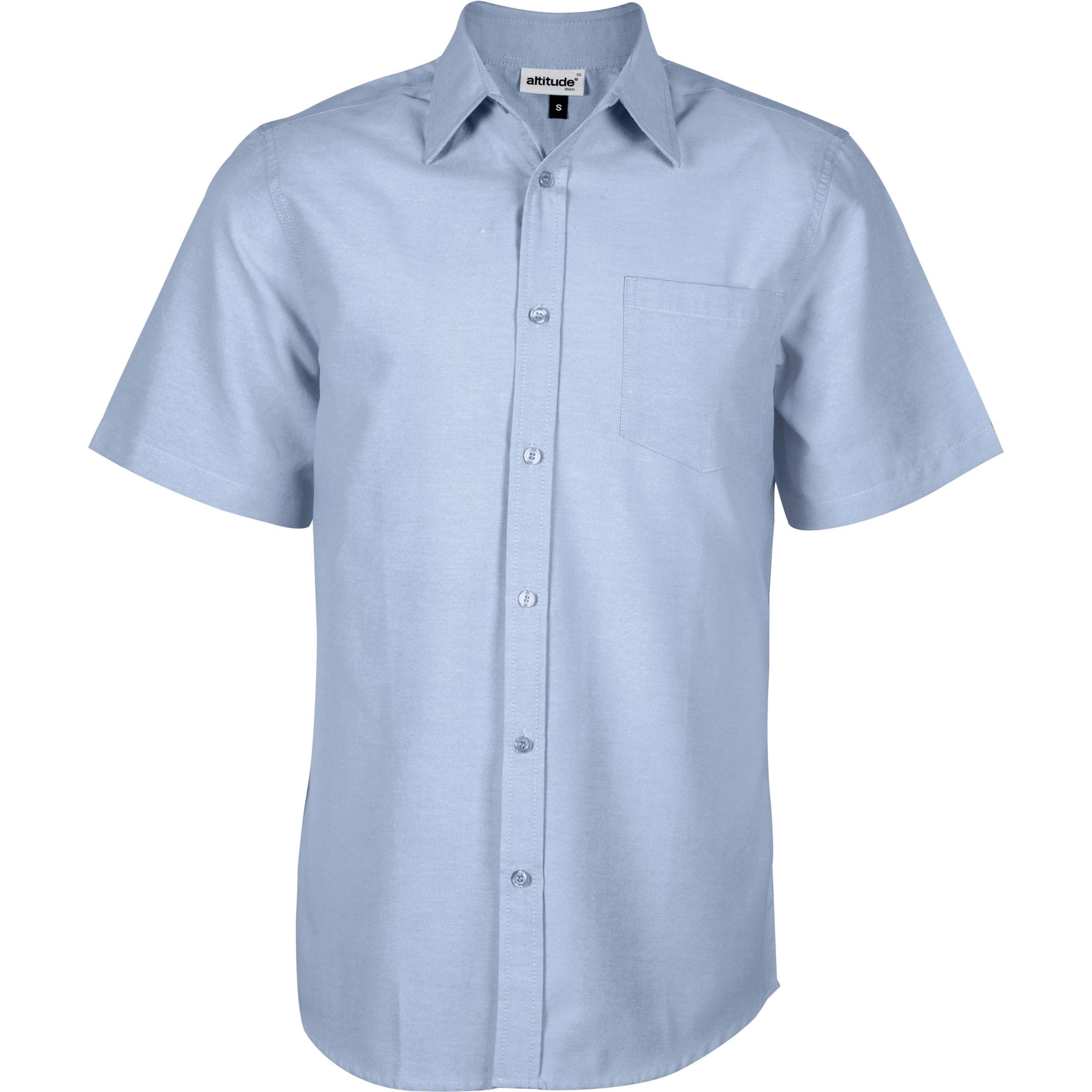 Mens Short Sleeve Oxford Shirt - Light Blue Only