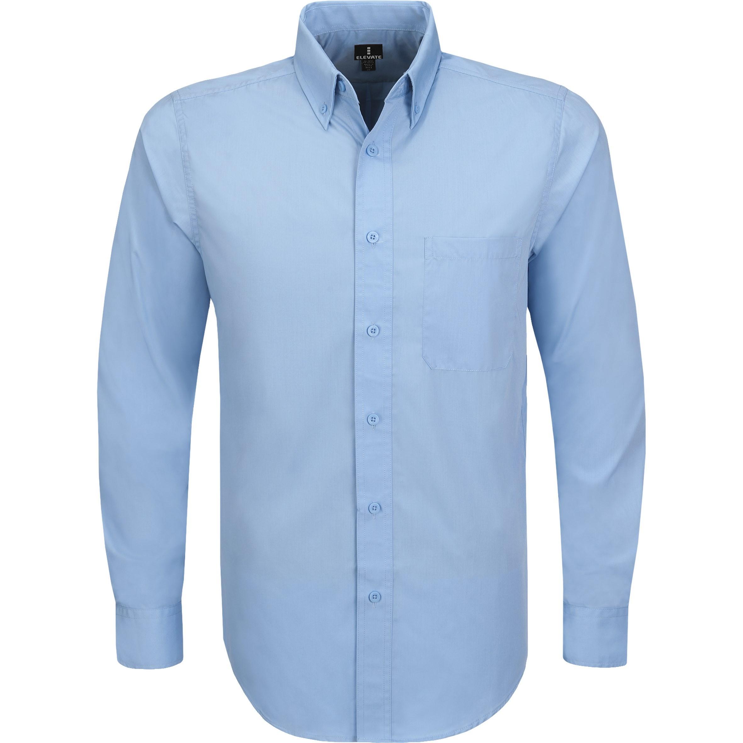 Mens Long Sleeve Preston Shirt - Blue Only