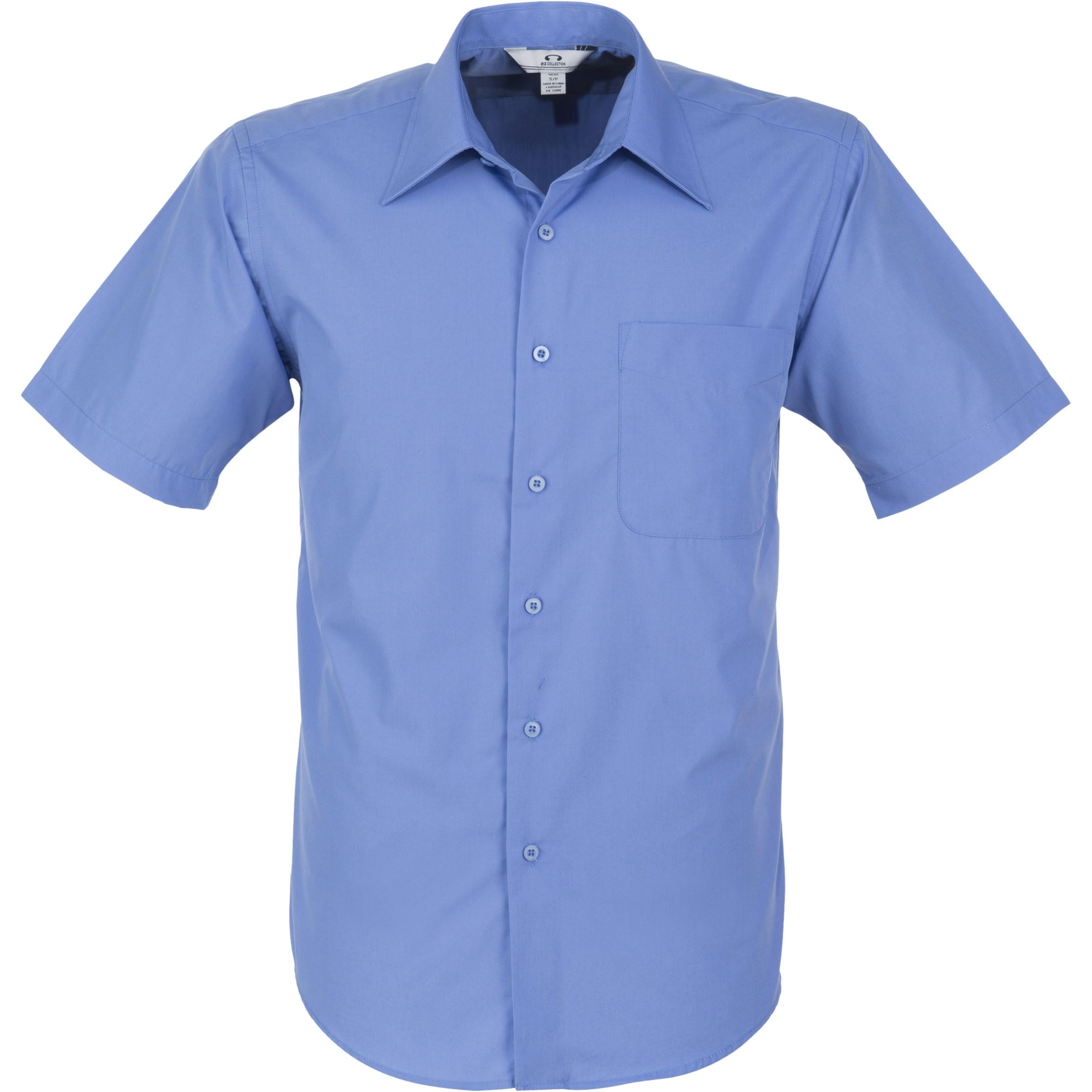 Mens Short Sleeve Metro Shirt - Blue Only