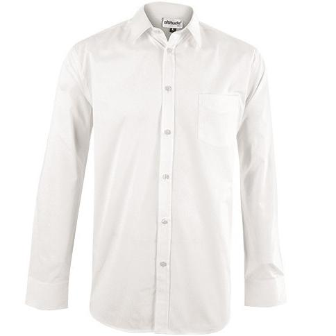 Lounge Shirts & Formal Shirts | Mens Long Sleeve Haiden Shirt - White Only - 1