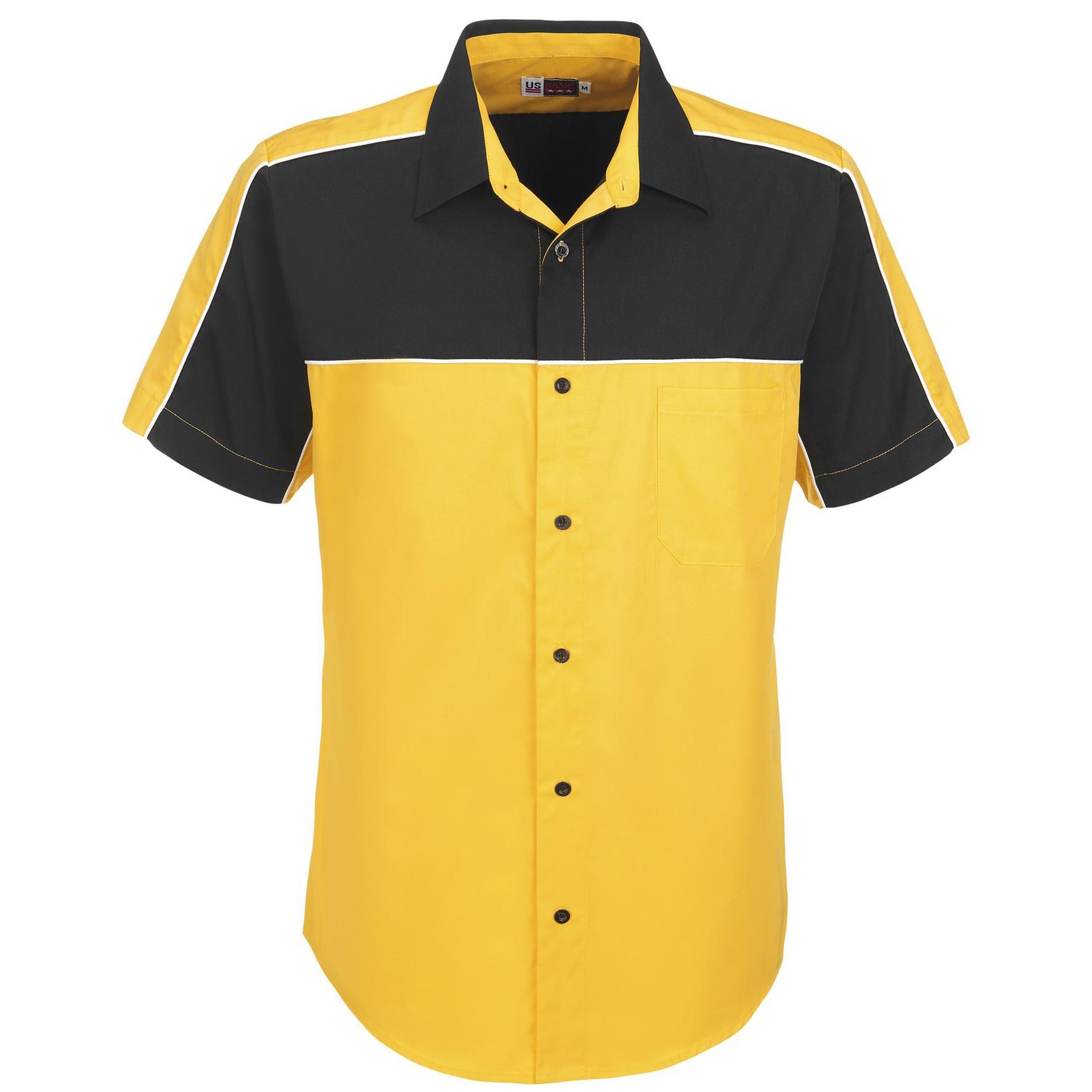 Mens Daytona Pitt Shirt - Yellow Only