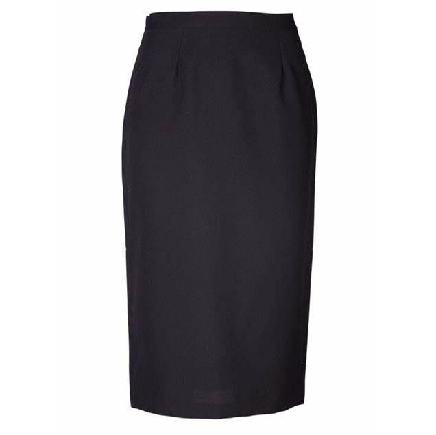 Claire Pencil Long Skirt - Black