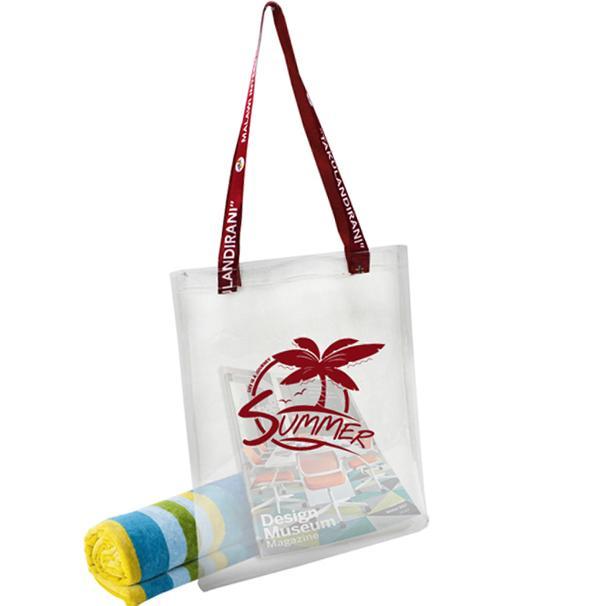 Athena Pvc Beach Bag With 1 Col Print + Fc Handles