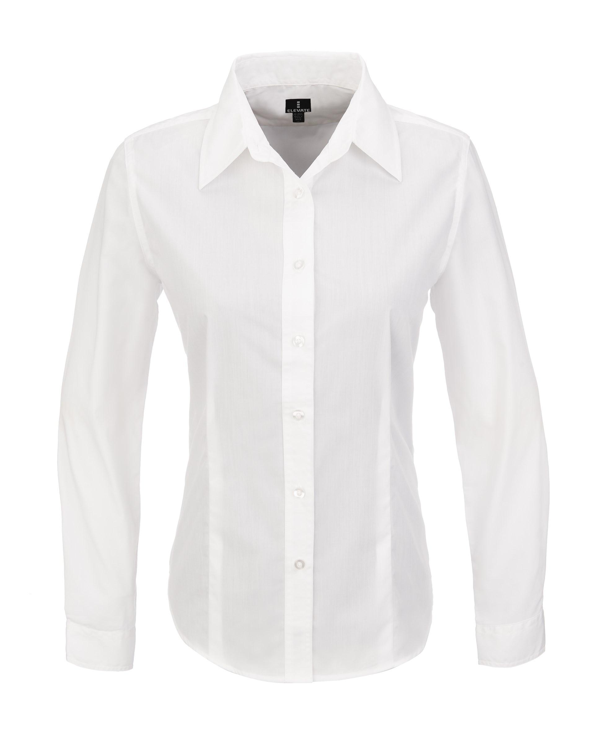 Ladies Long Sleeve Preston Shirt -white Only