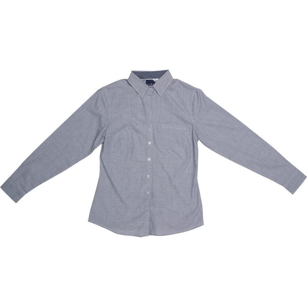 Ladies Long Sleeve Lisbon Shirt - Charcoal Only