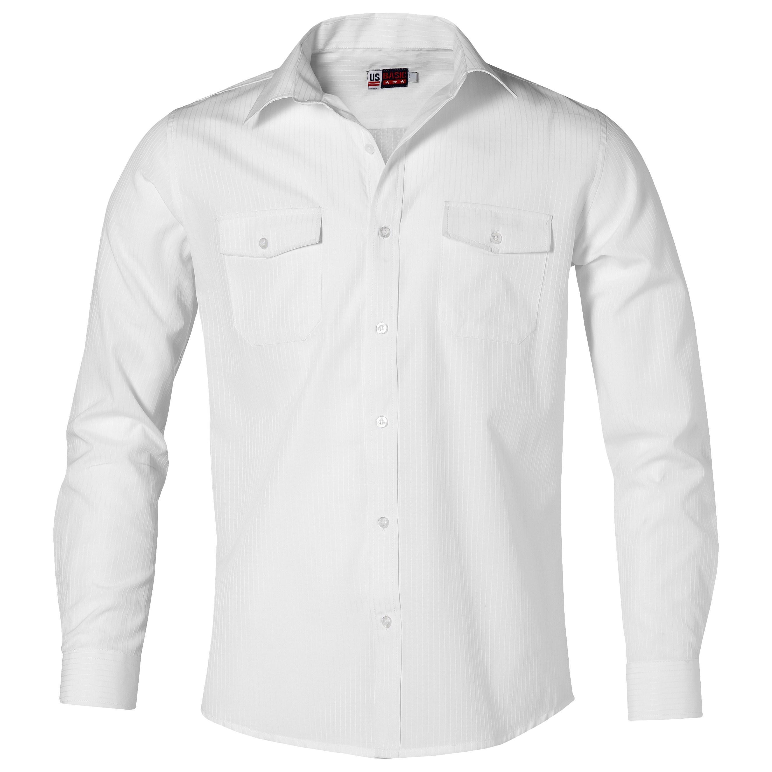 Mens Long Sleeve Bayport Shirt -white Only