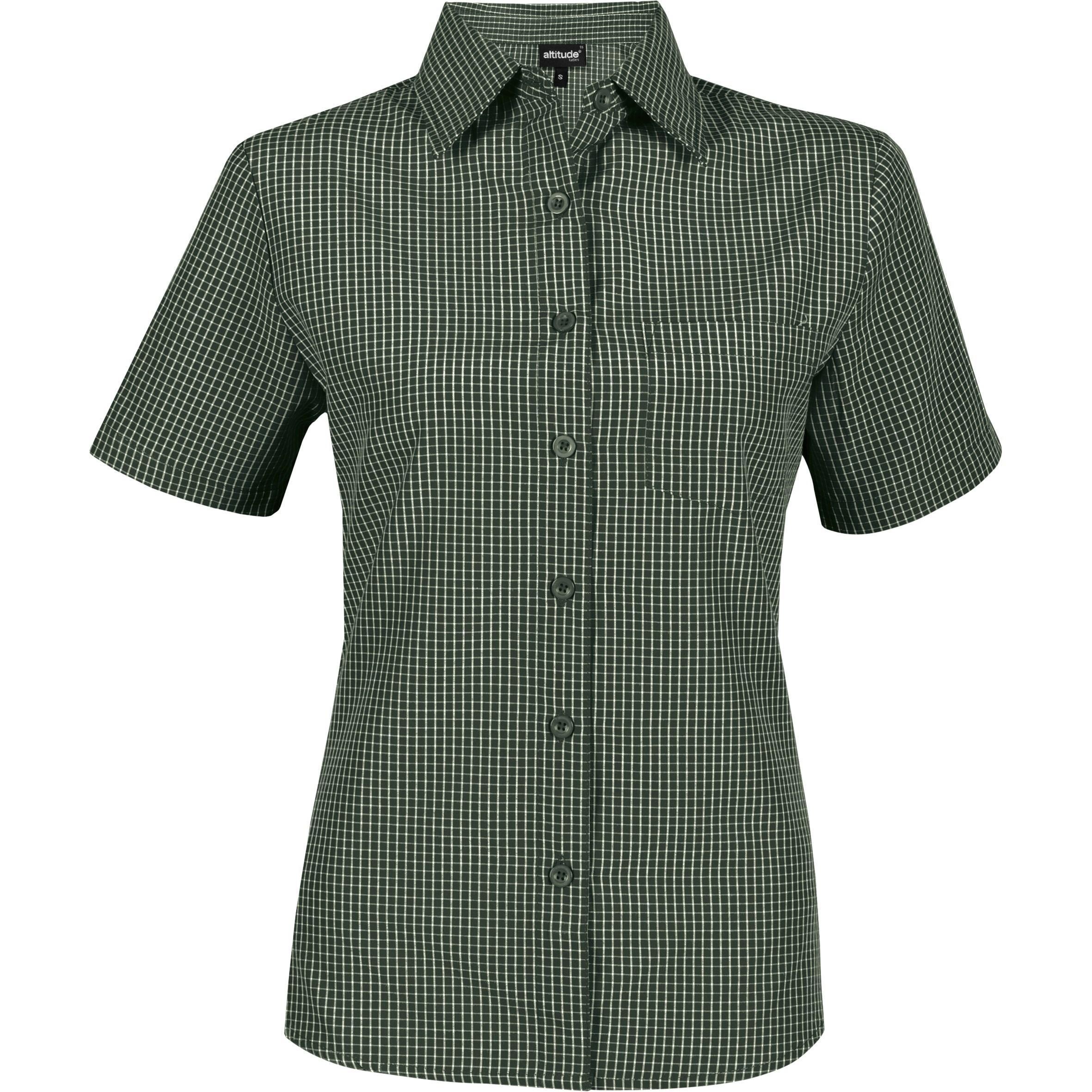 Ladies Short Sleeve Cedar Shirt - Green Only