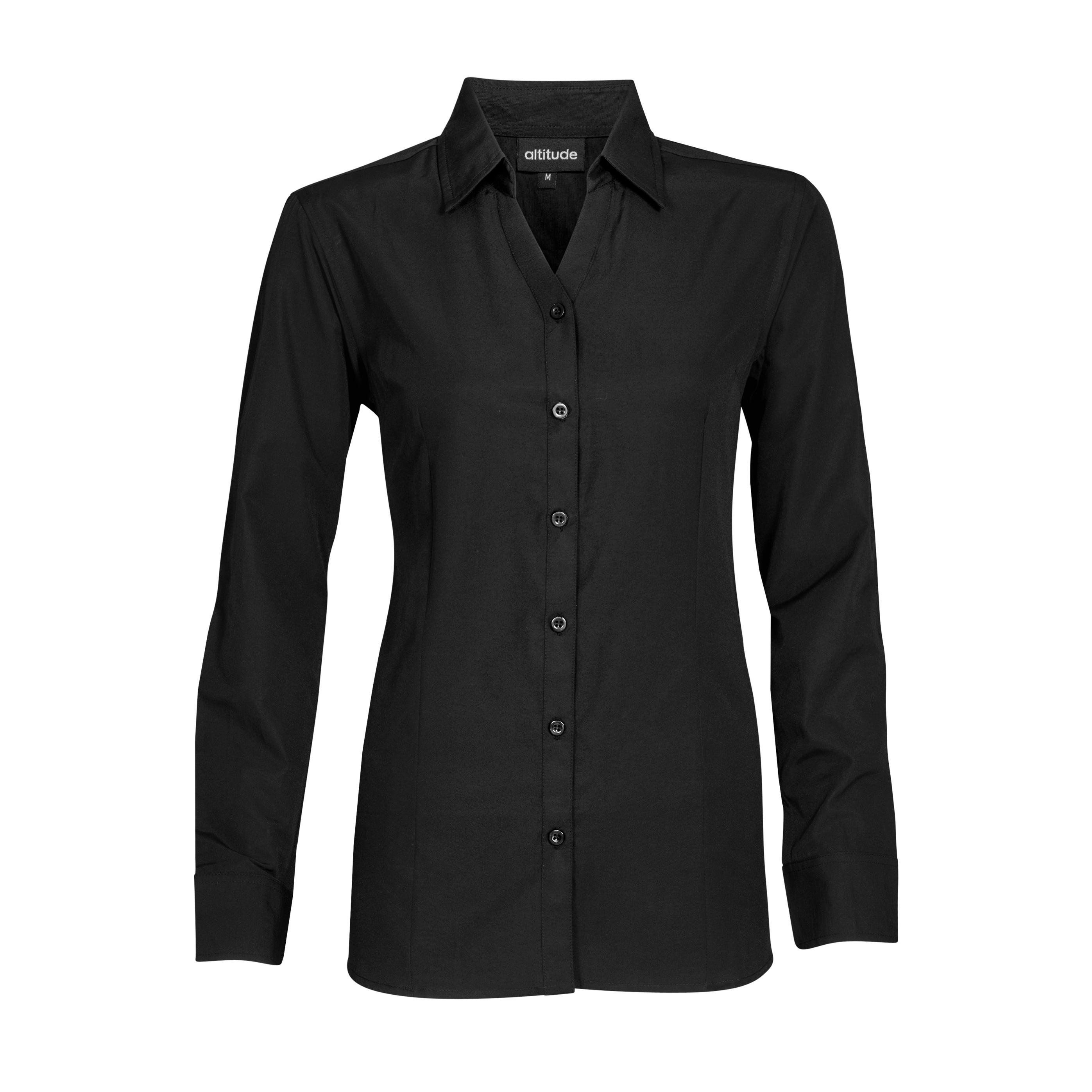 Ladies Long Sleeve Catalyst Shirt - Black Only