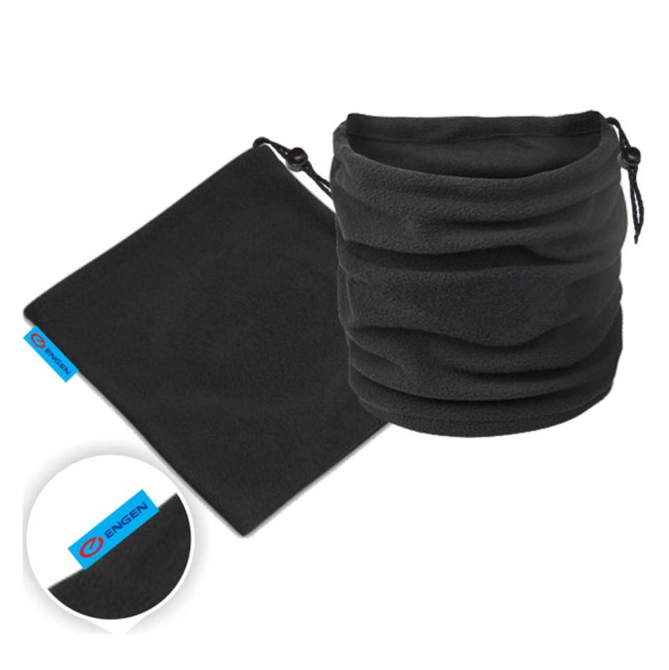 Black Nippy Neck Warmer With Full Colour Label