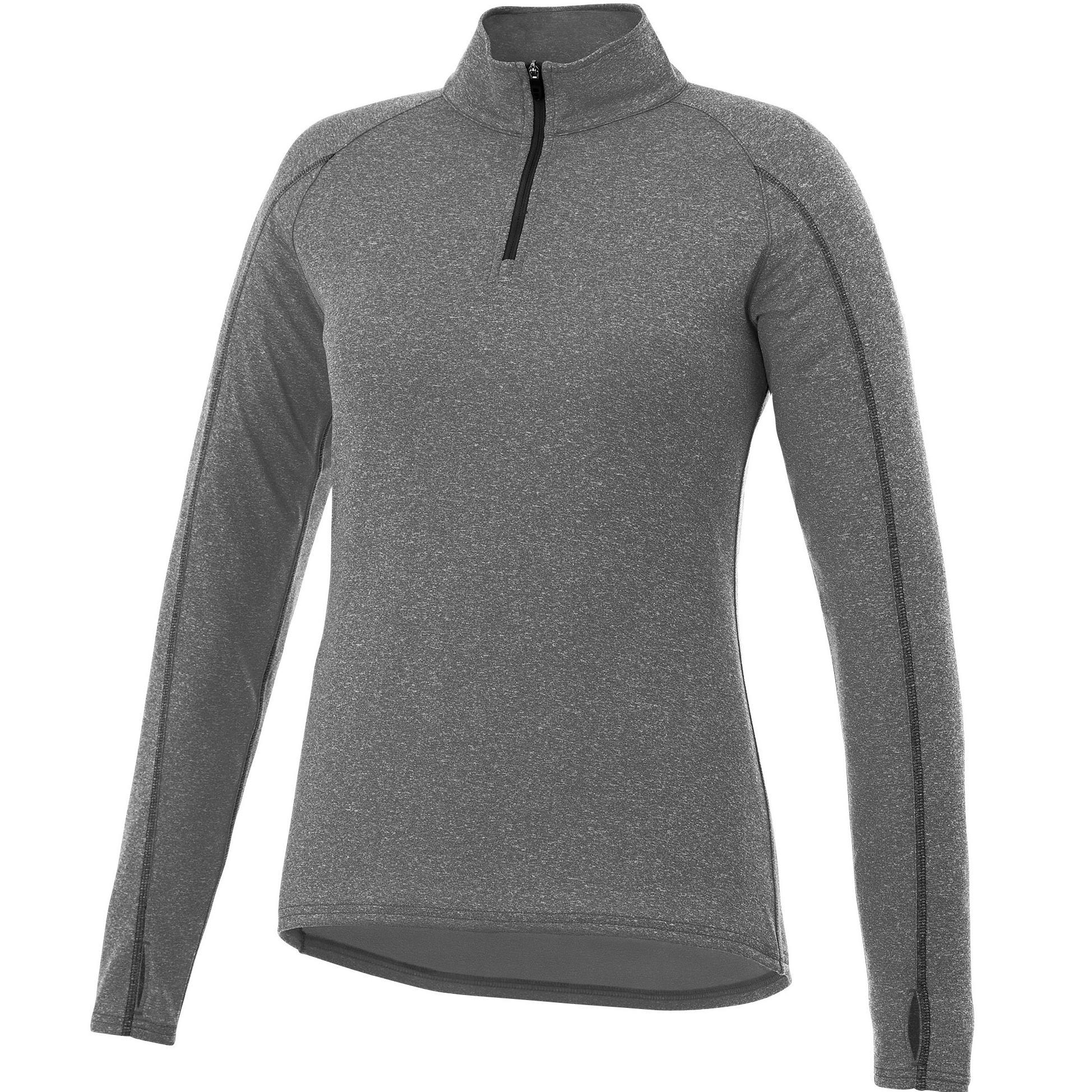 Ladies Taza 1/4 Zip Sweater - Grey Only