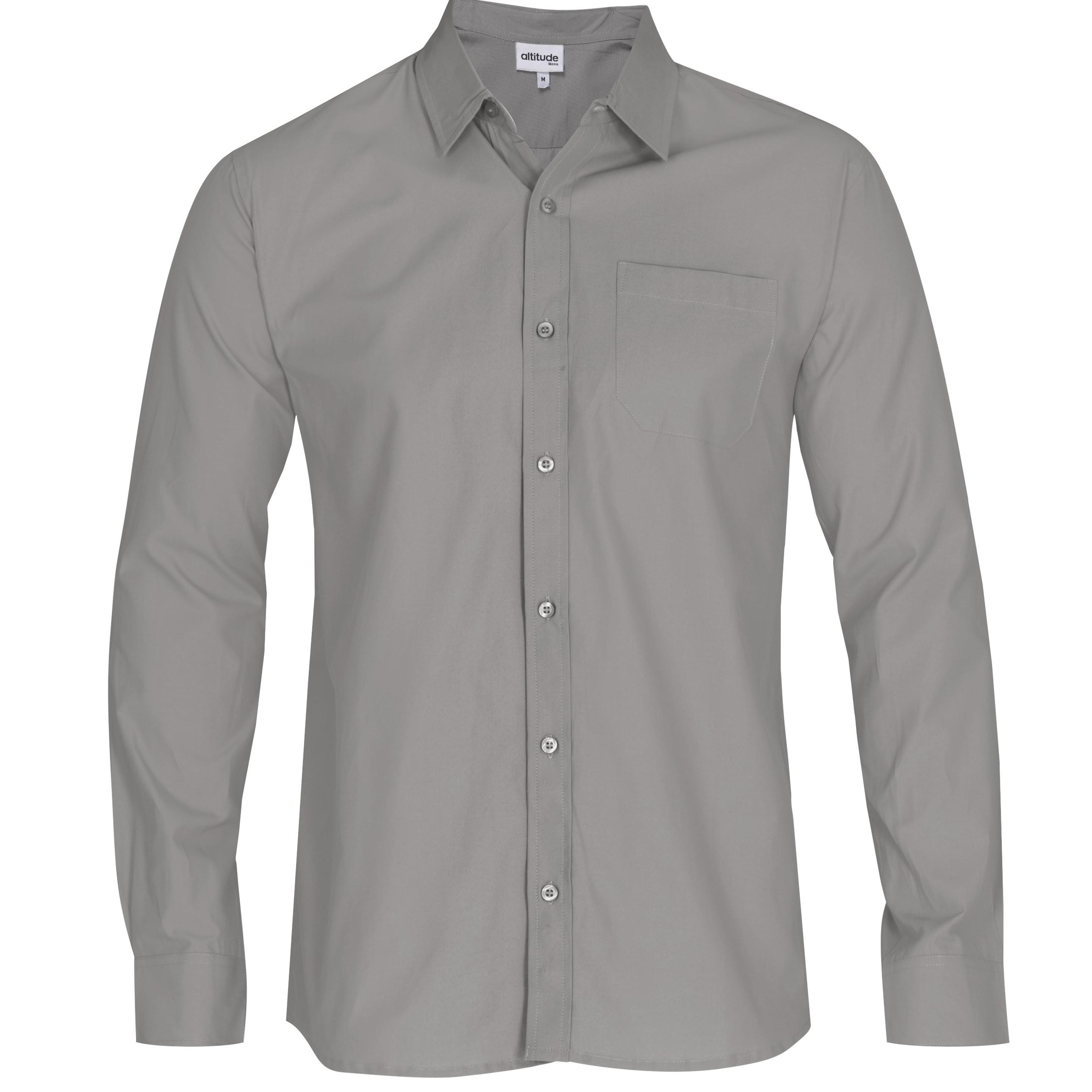 Mens Long Sleeve Catalyst Shirt - Grey Only