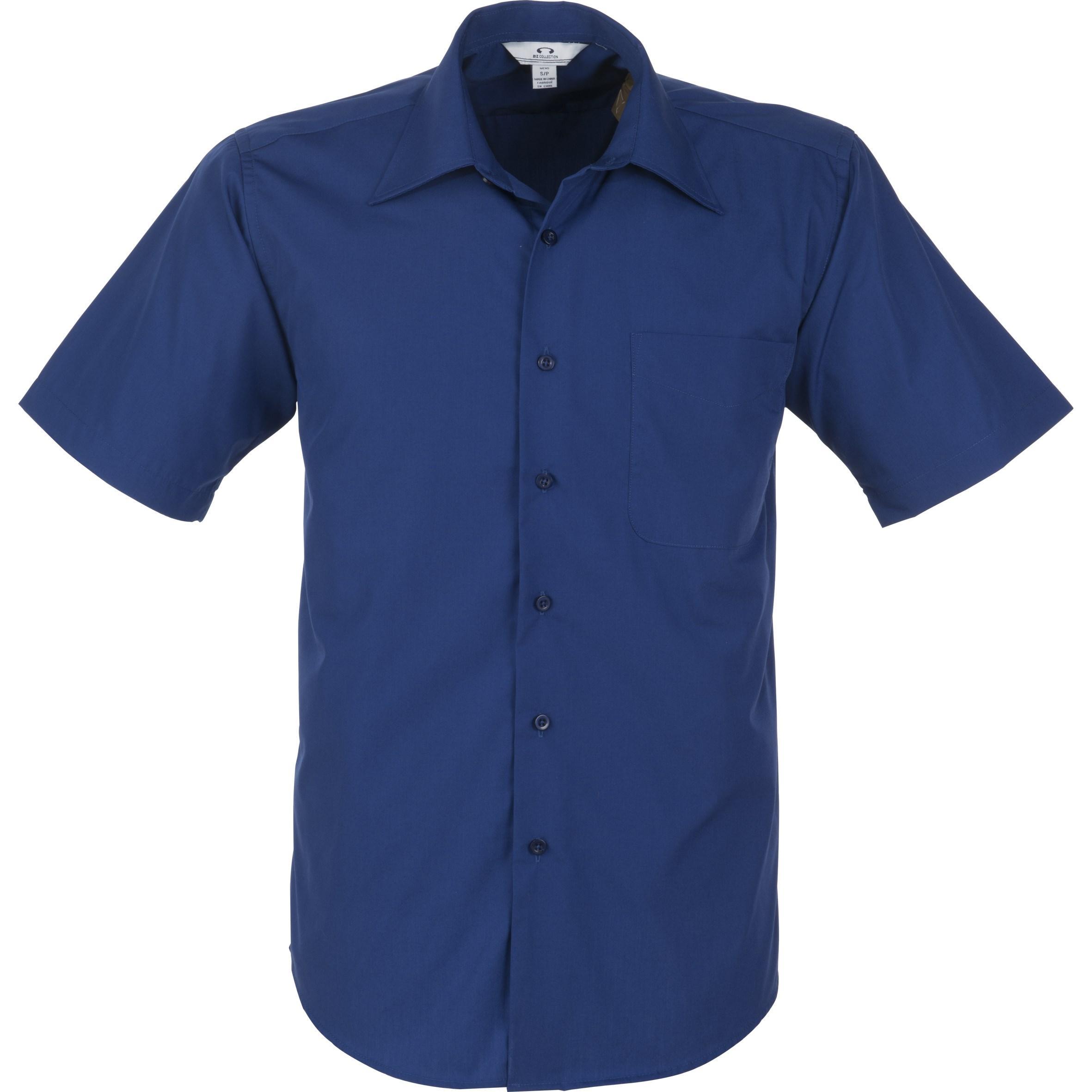 Mens Short Sleeve Metro Shirt - Royal Blue Only