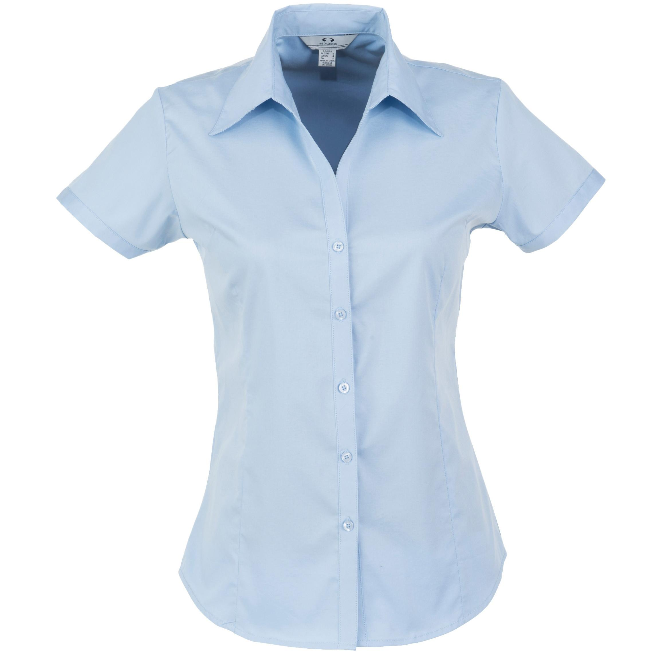 Ladies Short Sleeve Metro Shirt - Light Blue Only