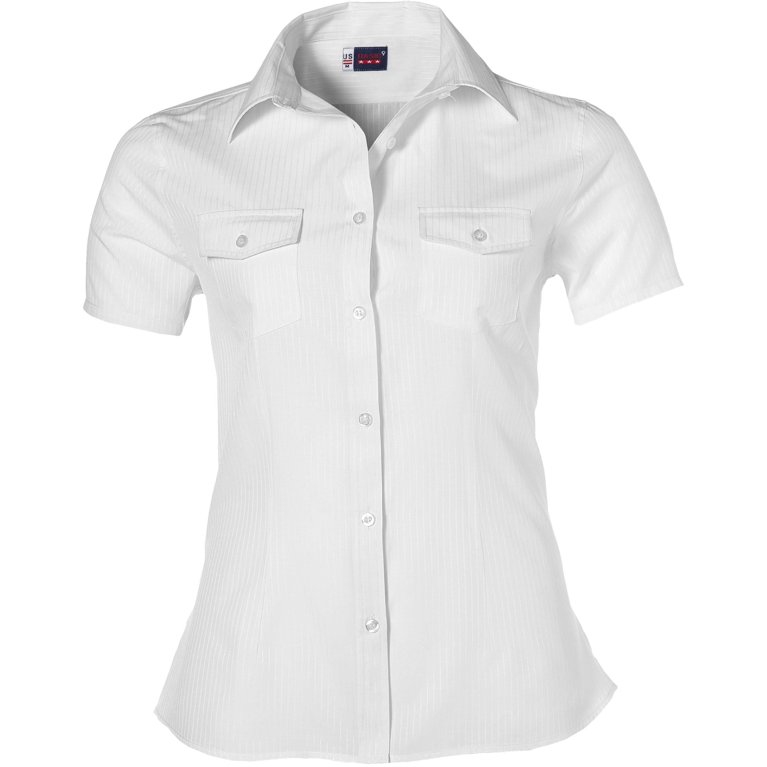 Ladies Short Sleeve Bayport Shirt -white Only