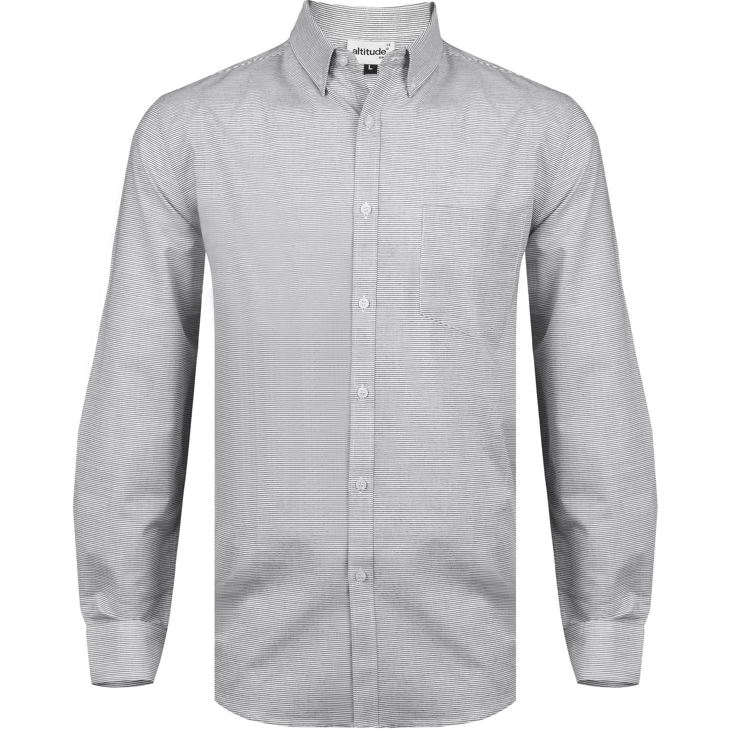 Mens Long Sleeve Earl Shirt - Grey Only