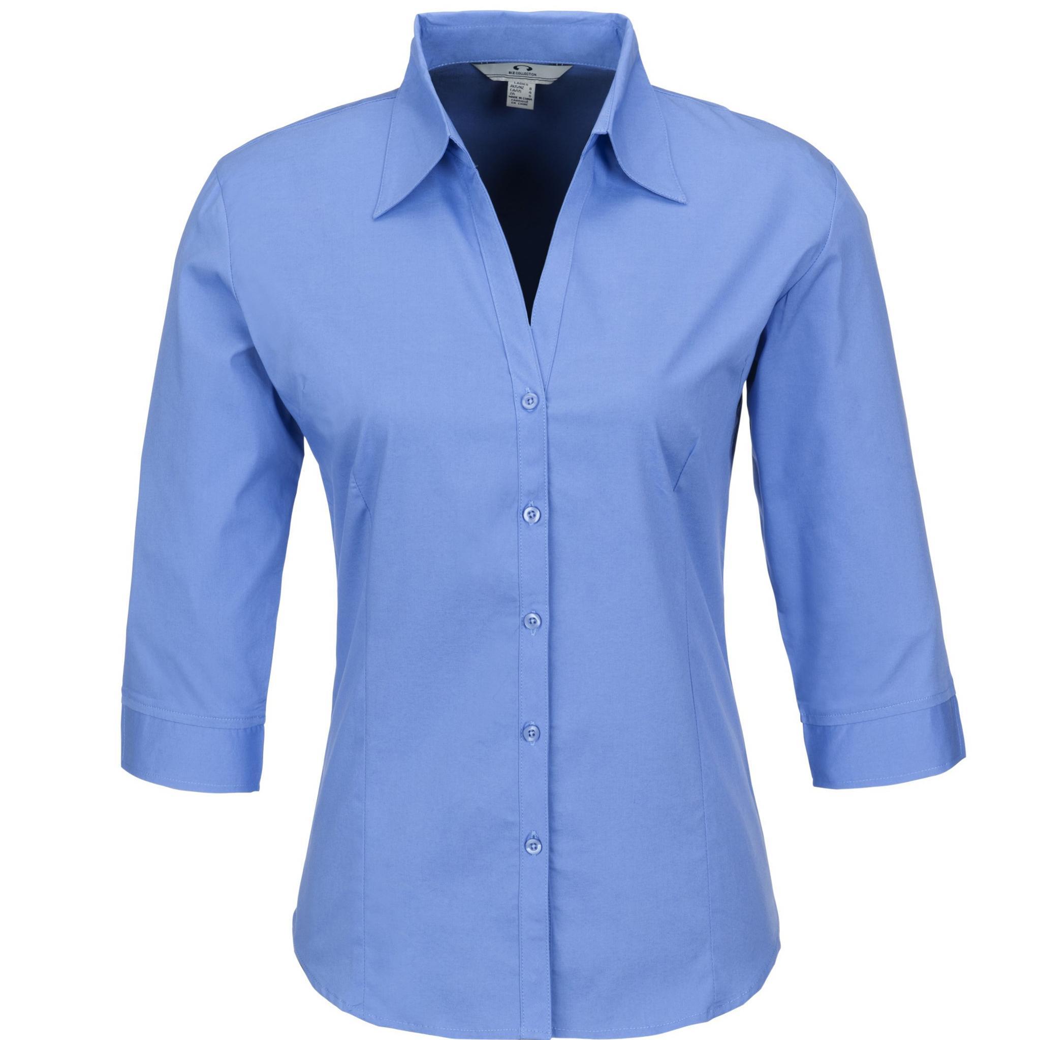 Ladies 3/4 Sleeve Metro Shirt