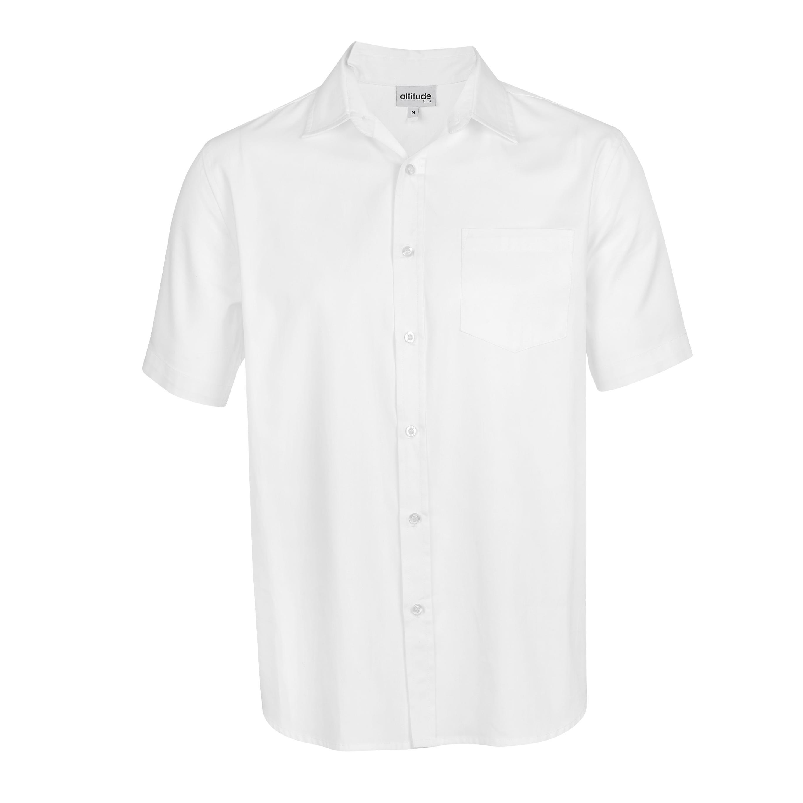 Mens Short Sleeve Seattle Twill Shirt -white Only