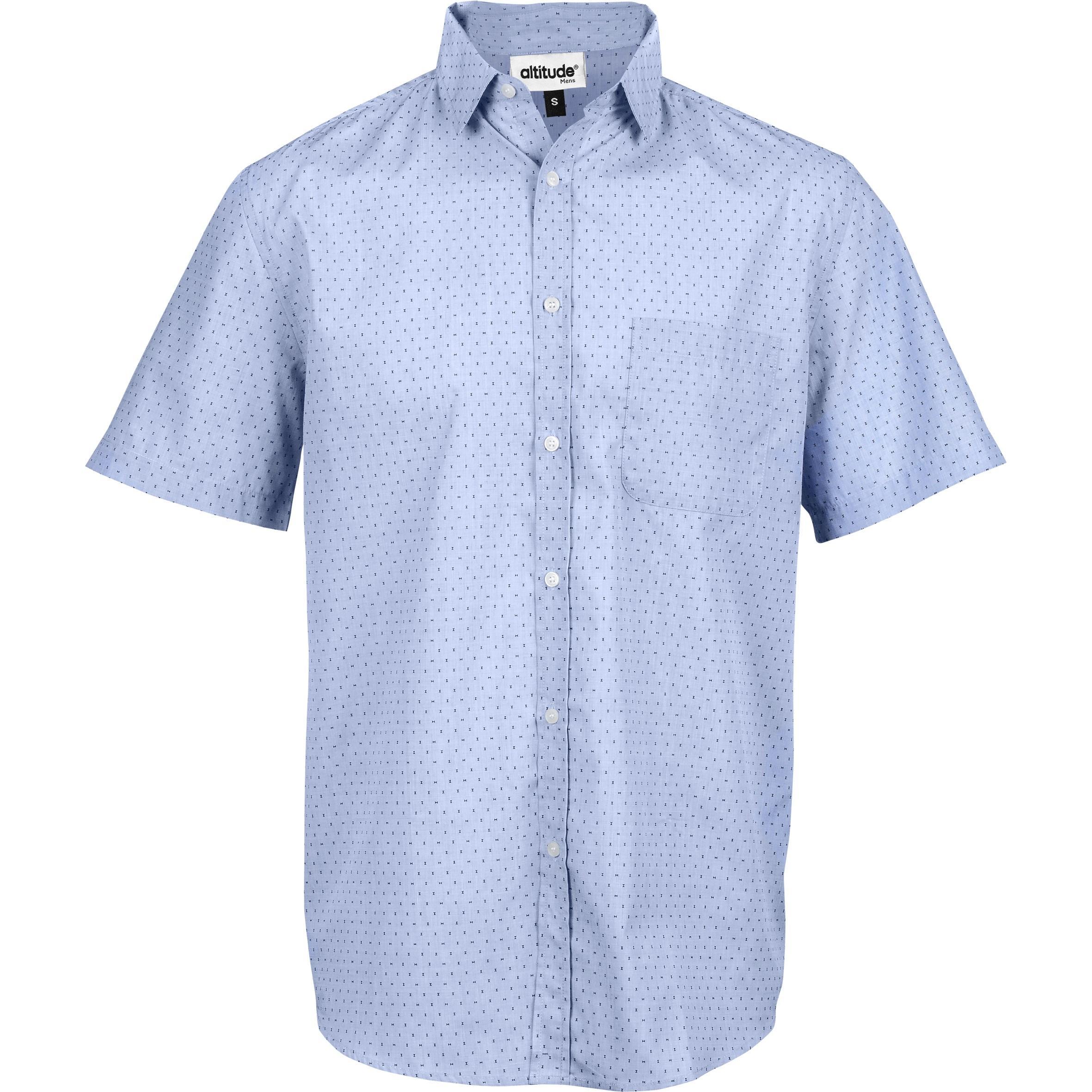 Mens Short Sleeve Duke Shirt - Light Blue Only