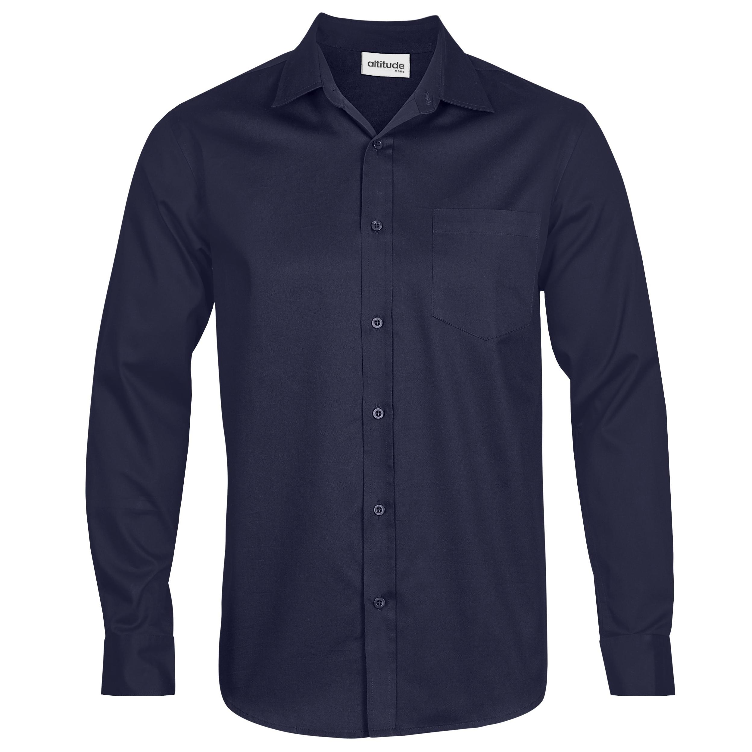 Mens Long Sleeve Seattle Twill Shirt - Navy Only