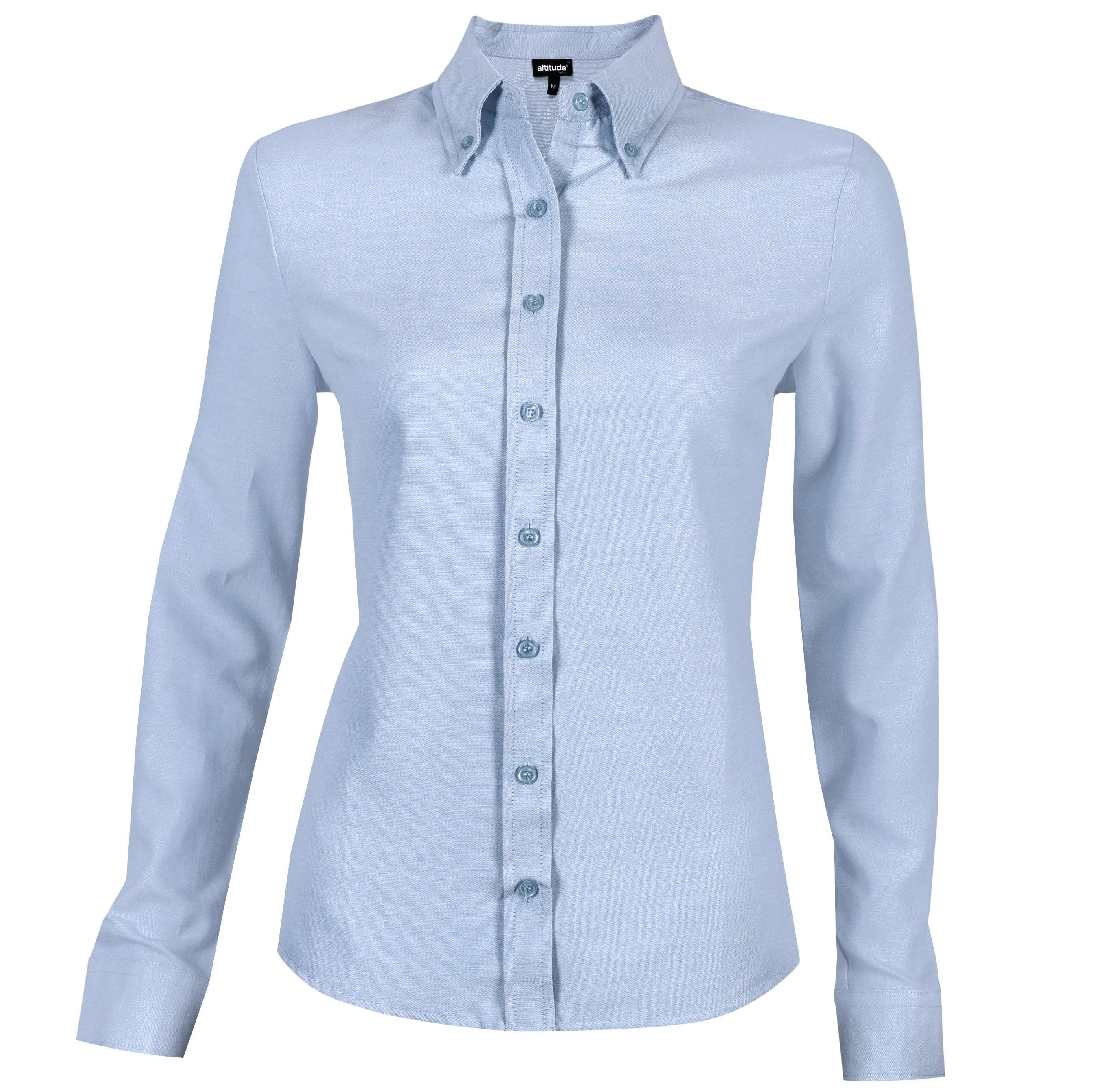 Ladies Long Sleeve Oxford Shirt - Light Blue Only