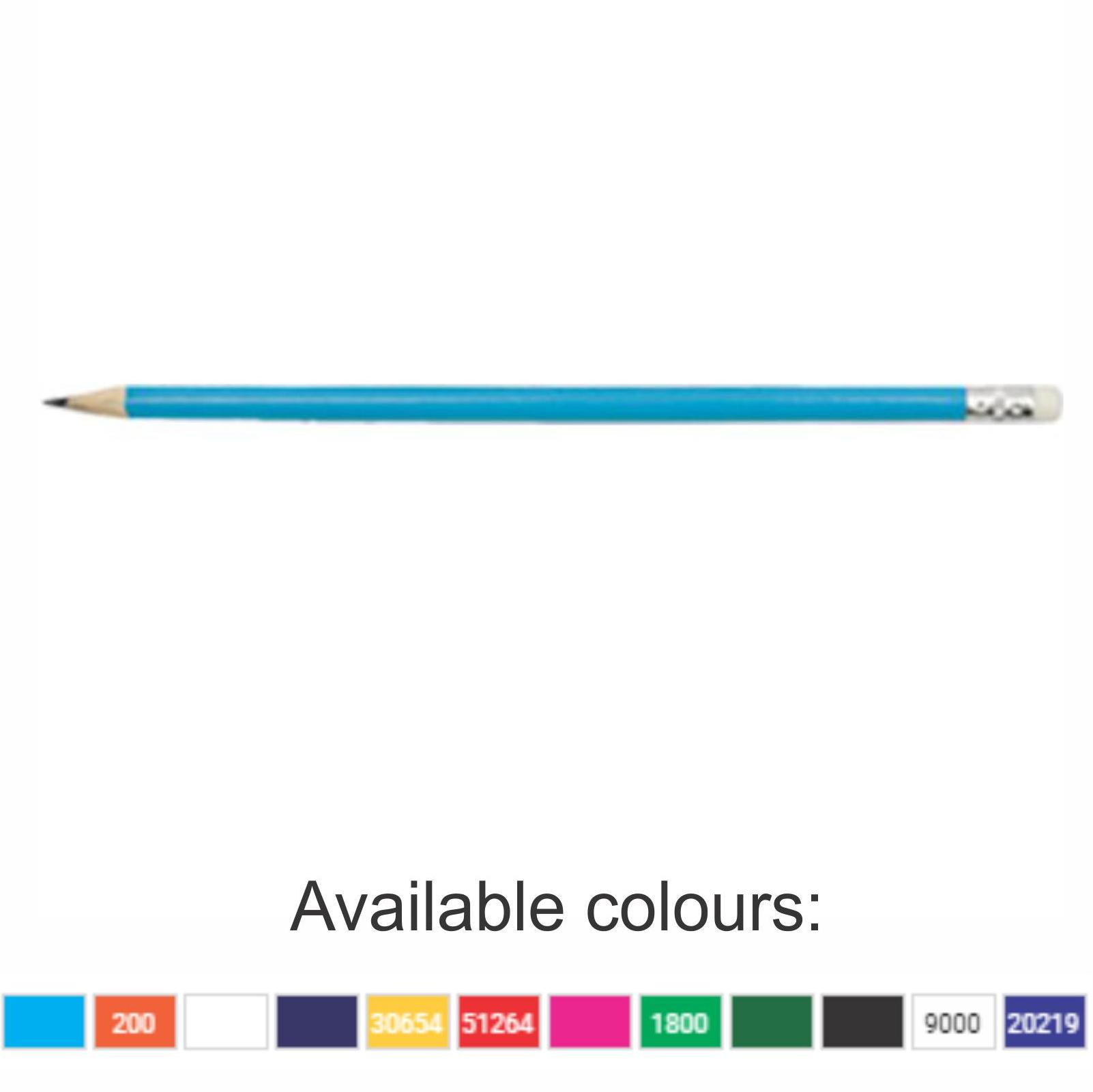 Pencils With 1 Colour Print