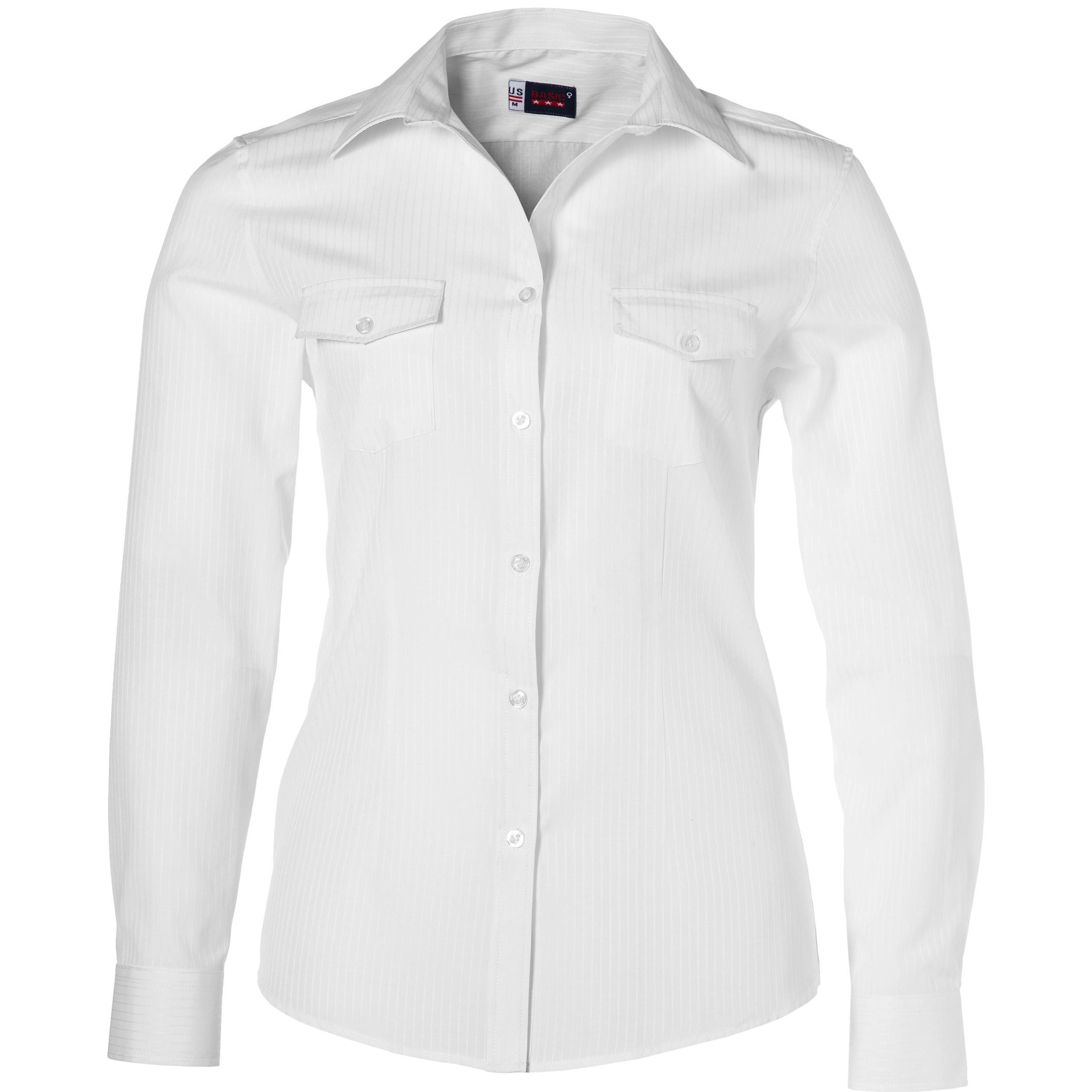 Ladies Long Sleeve Bayport Shirt -white Only