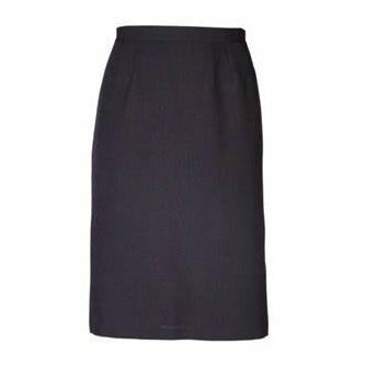 Emma Pencil Short Skirt - Cationic Charcoal
