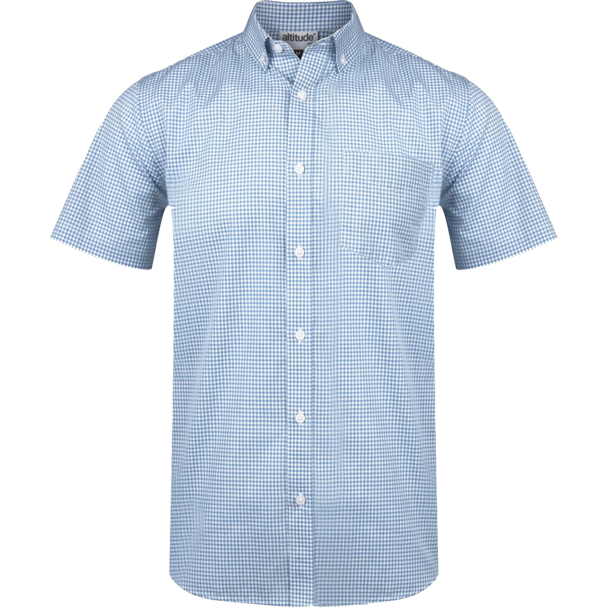 Mens Short Sleeve Edinburgh Shirt - Blue Only