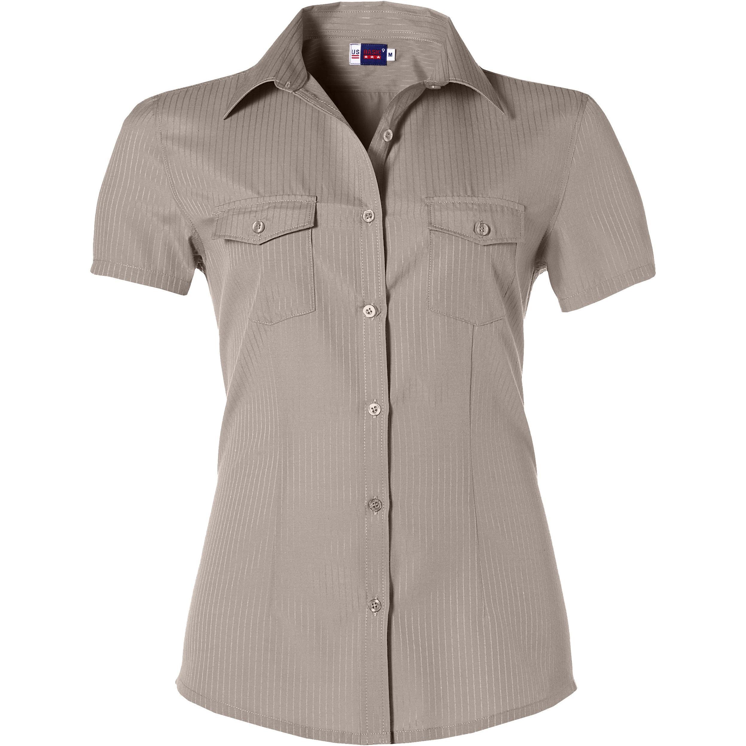 Ladies Short Sleeve Bayport Shirt - Khaki Only