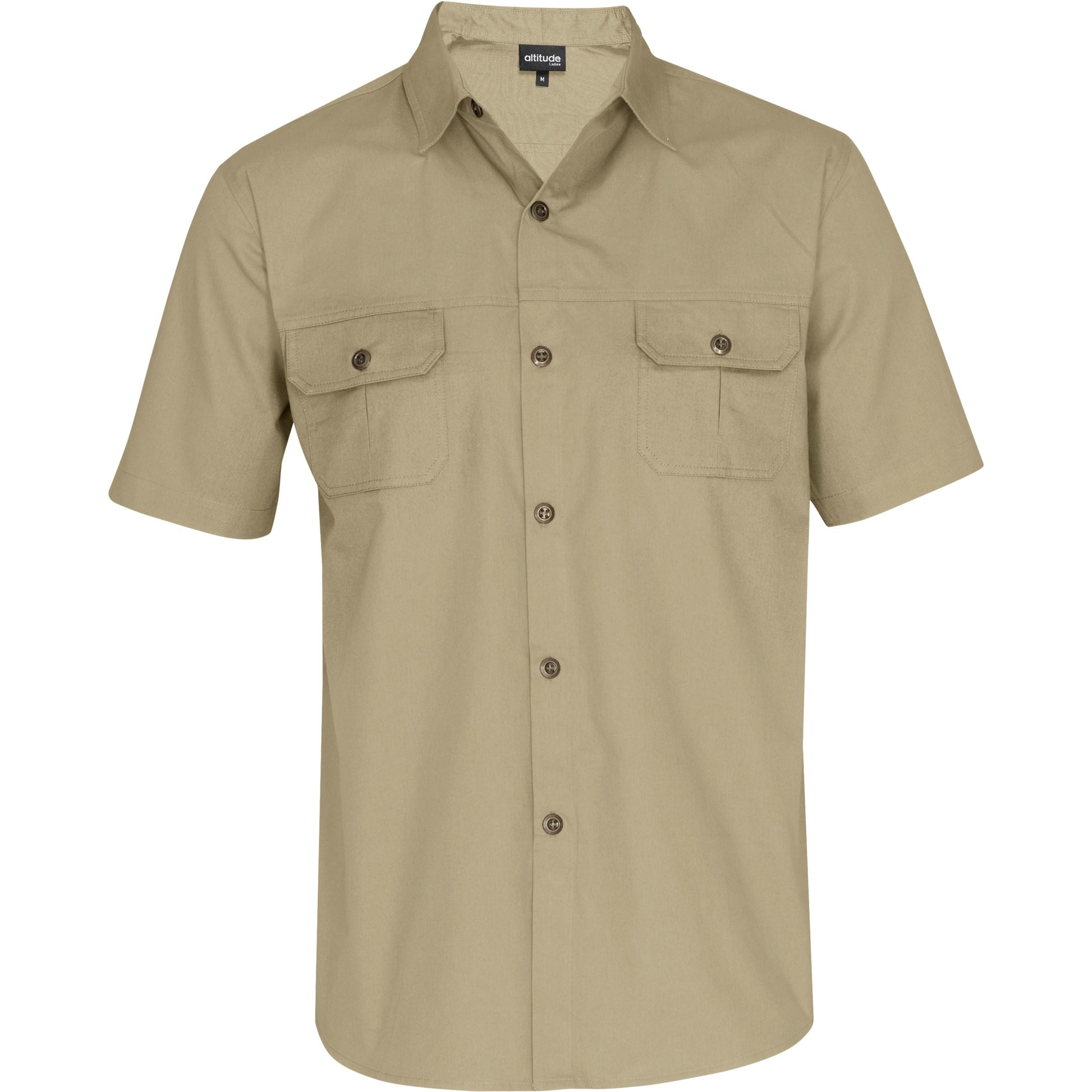 Mens Short Sleeve Oryx Bush Shirt - Stone Only