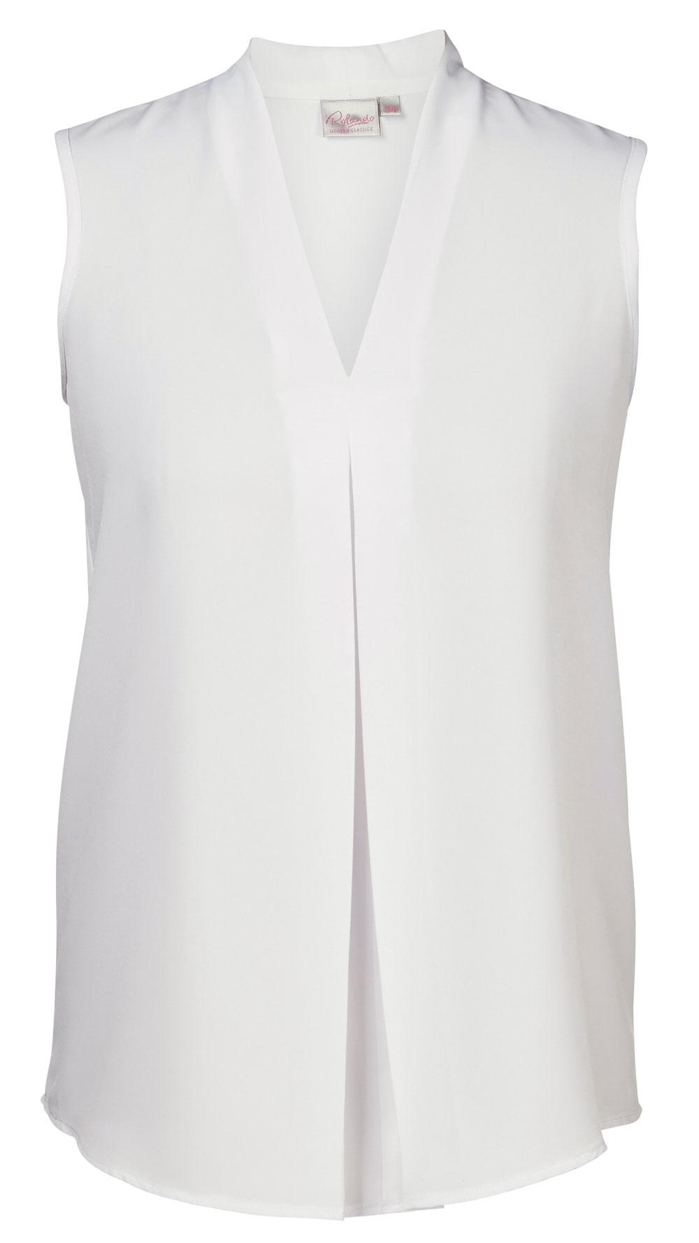 Lyra K225 S/less Blouse - White