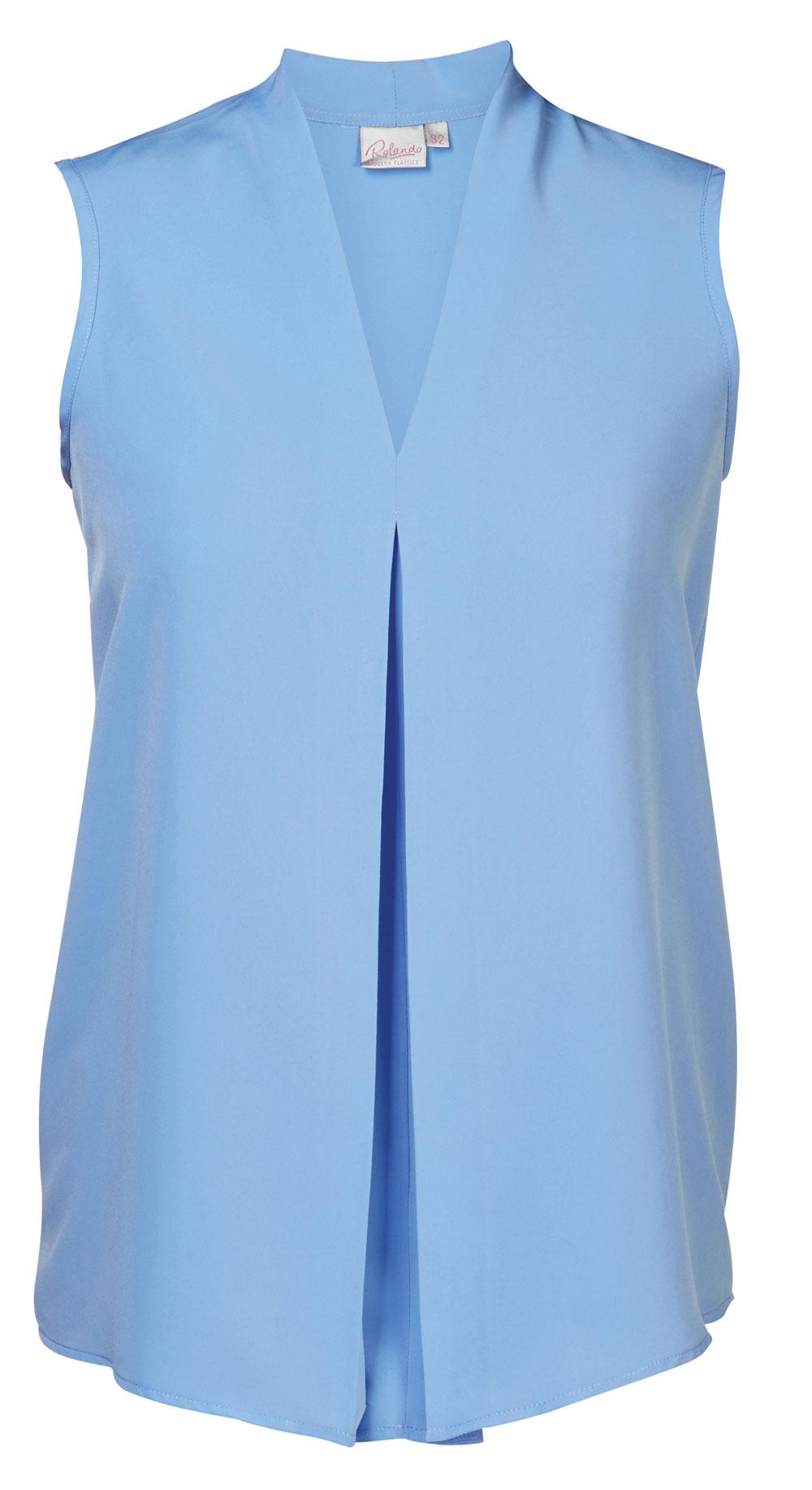 Lyra K225 S/less Blouse - Blue