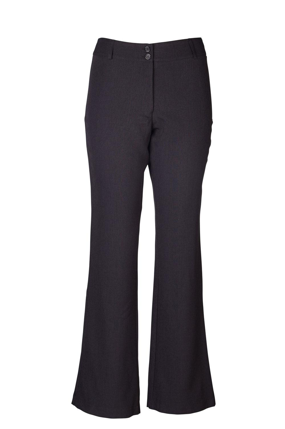 Beverly Bootleg Slacks - Cationic Charcoal