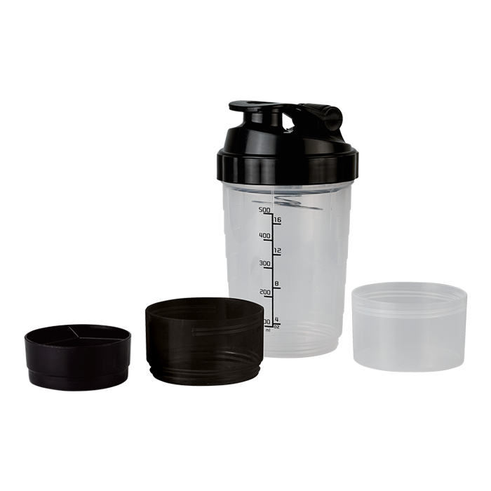 Bw0087 - 600ml Shaker With Two Bottom Compartments