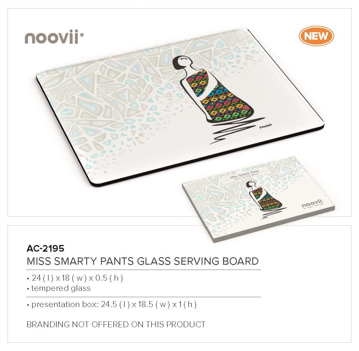 Andy Cartwright Miss Smarty Pants - Glass Serving Board