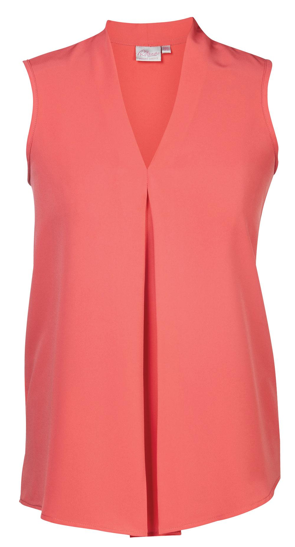 Lyra K225 S/less Blouse - Coral