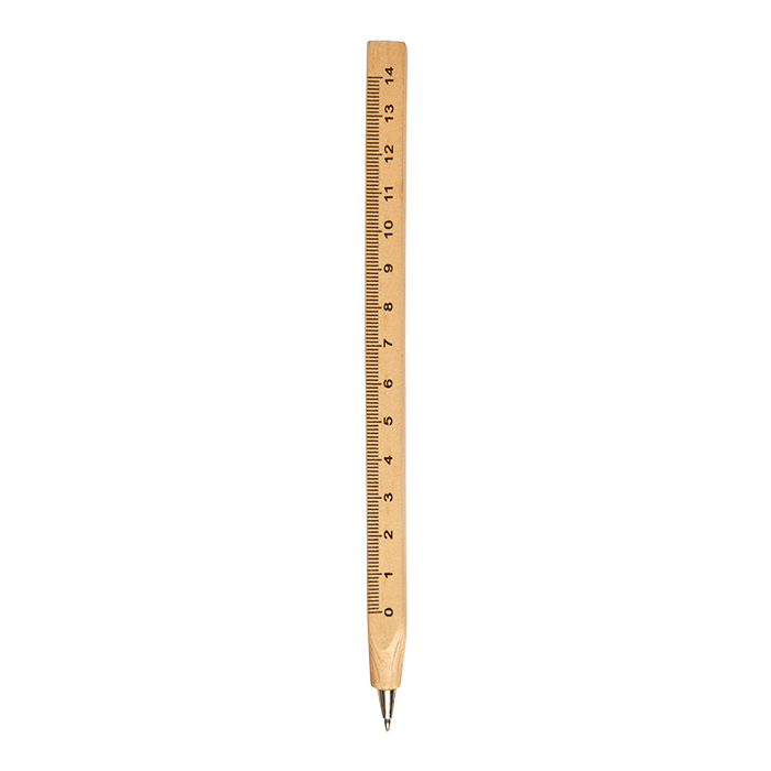 Bp7801 - Wooden Ballpoint Pen With Ruler