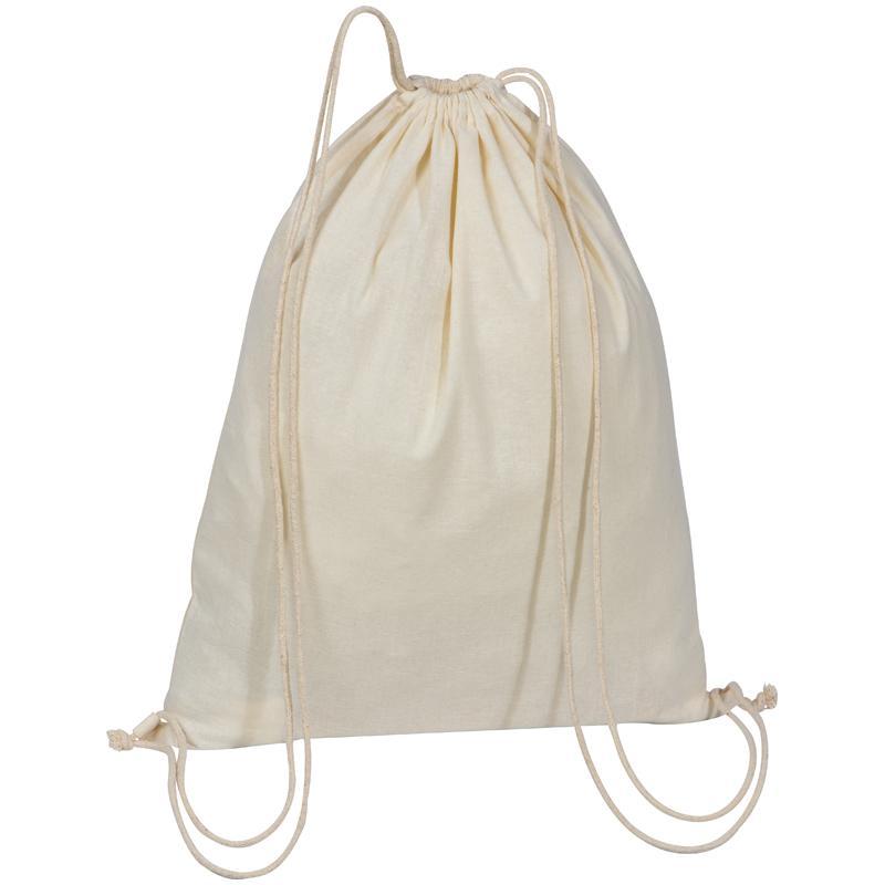Natural Cotton Drawstring Bag.