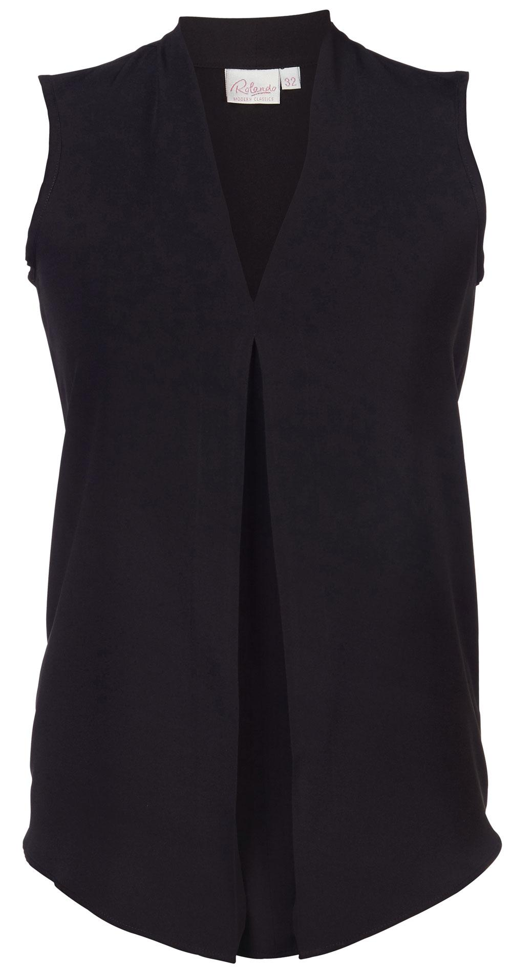 Lyra K225 S/less Blouse - Black