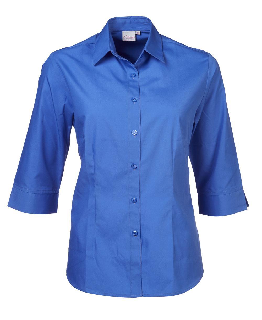 Cathy P070 3/4 Blouse - Blue