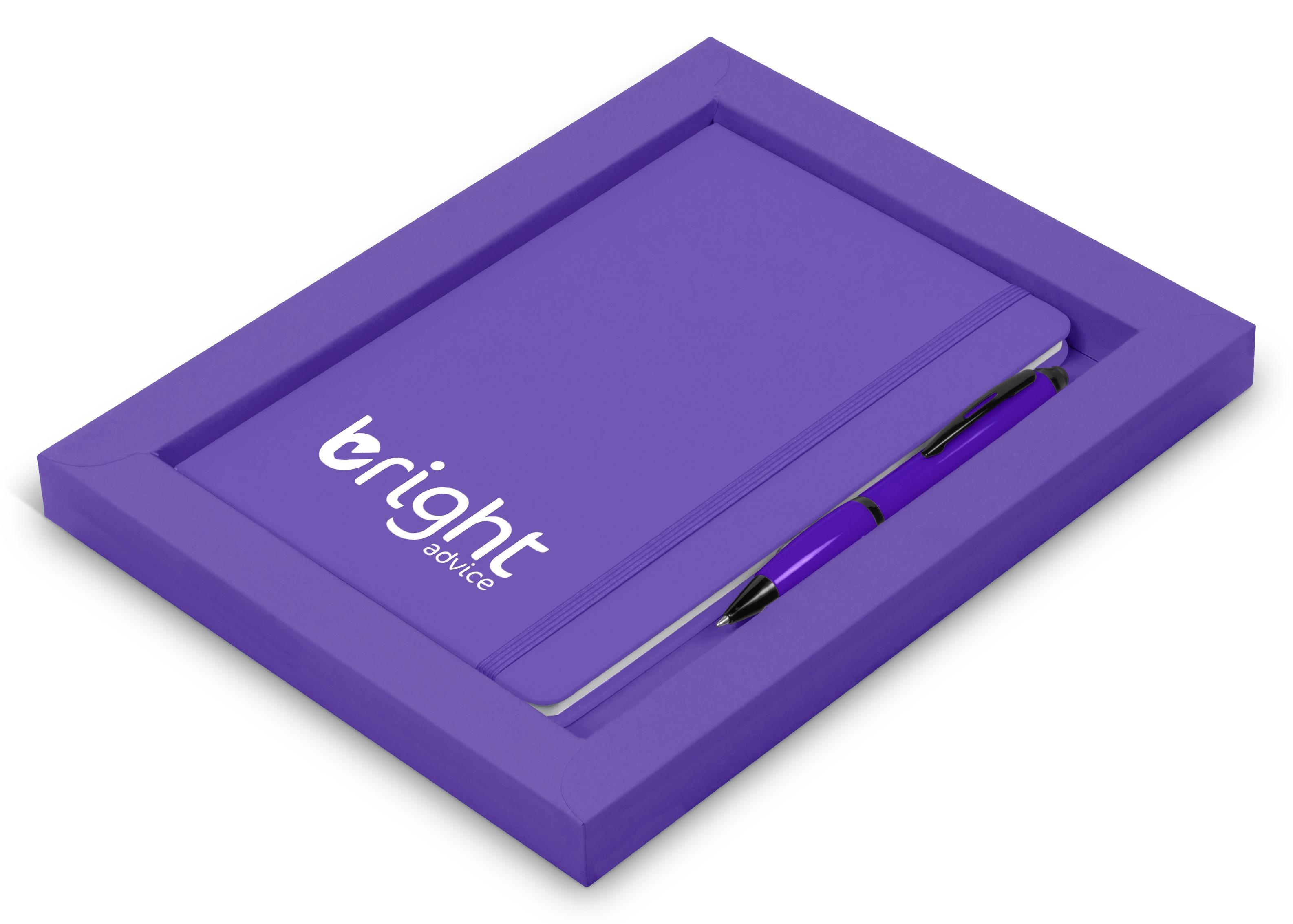 Omega Notebook Gift Set- Purple Only