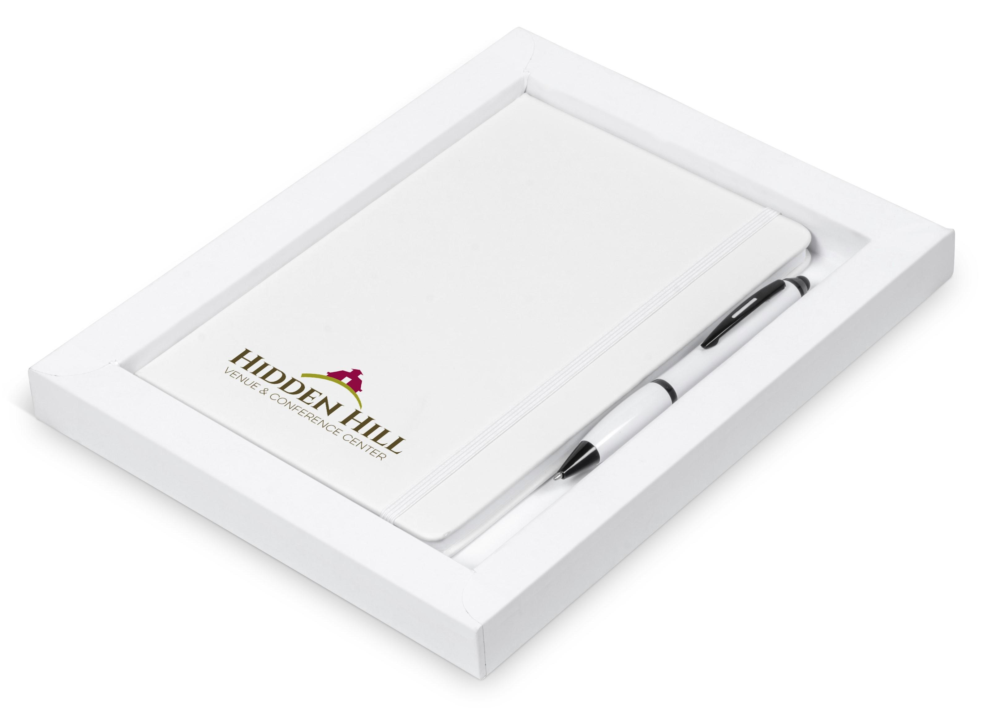 Omega Notebook Gift Set - Solid White Only