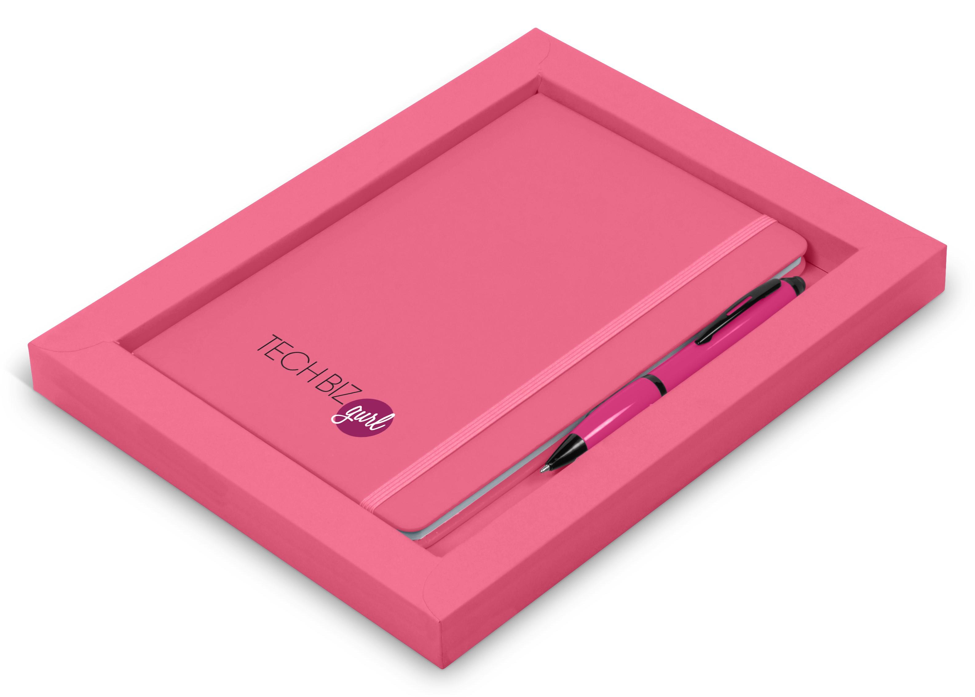 Omega Notebook Gift Set - Pink Only