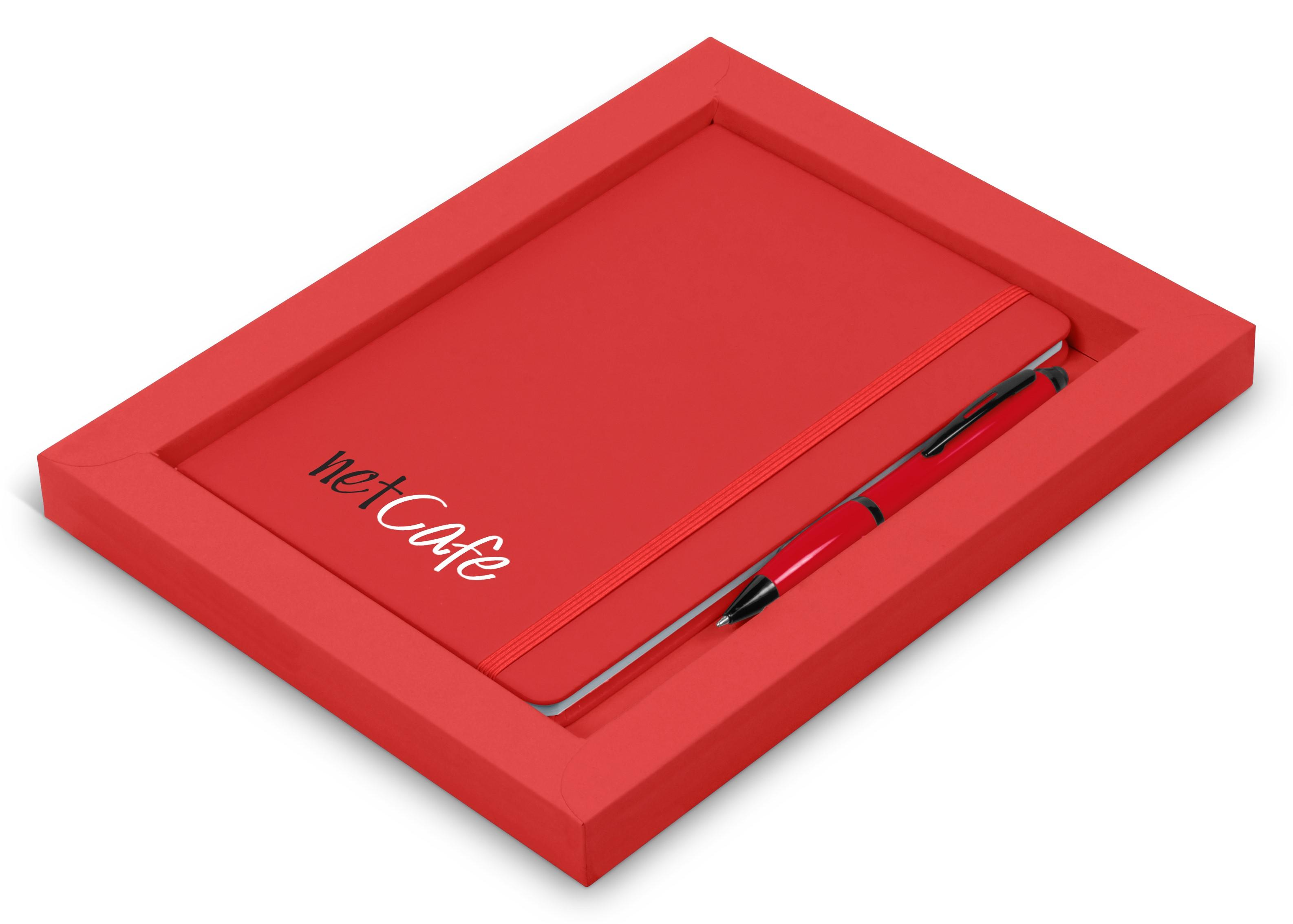 Omega Notebook Gift Set - Red Only