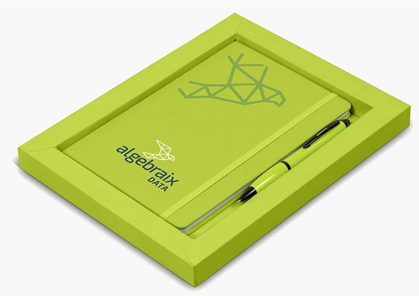 Omega Notebook Gift Set  - Lime Only
