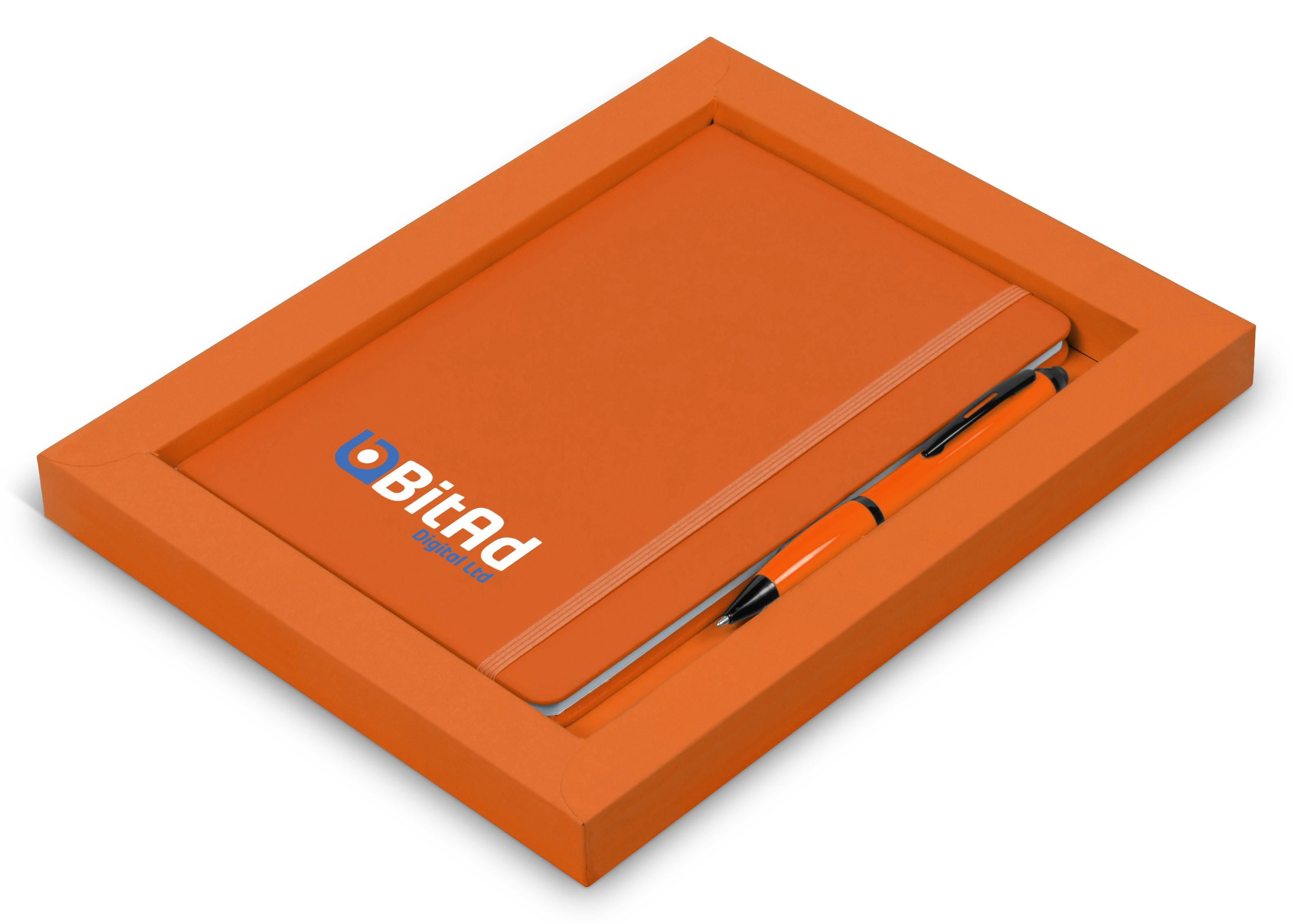 Omega Notebook Gift Set - Orange Only