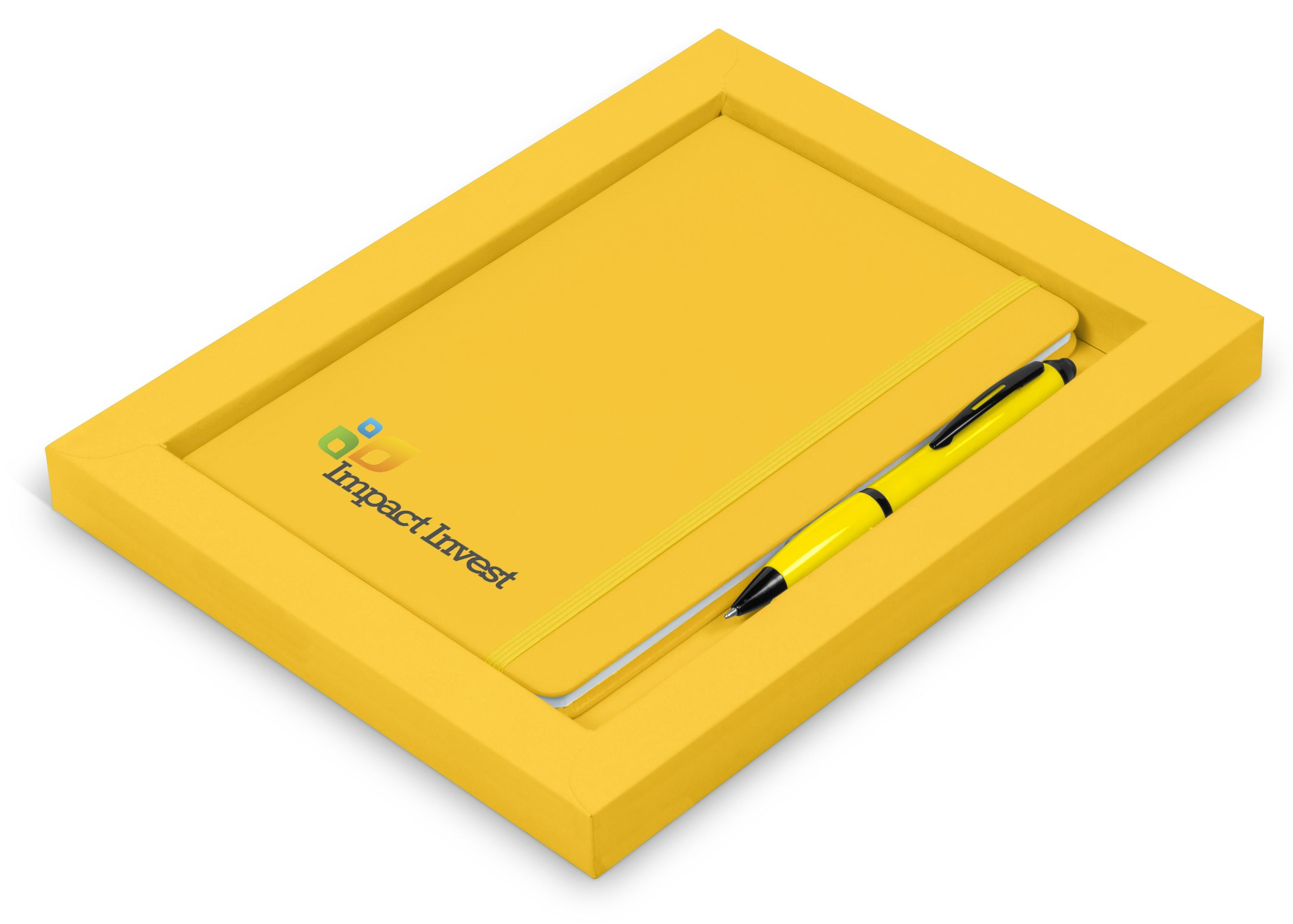 Omega Notebook Gift Set - Yellow Only