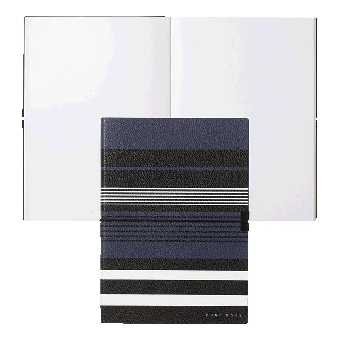 Hb0018 - Hugo Boss Note Pad A5 Storyline Stripes